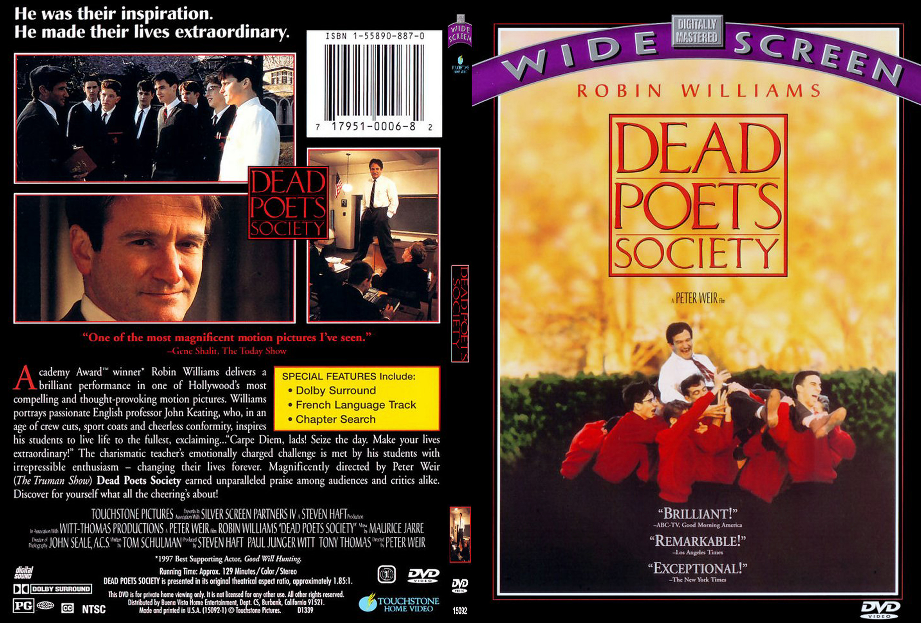 Covers Box Sk Dead Poets Society 1989 High Quality Dvd Blueray Movie