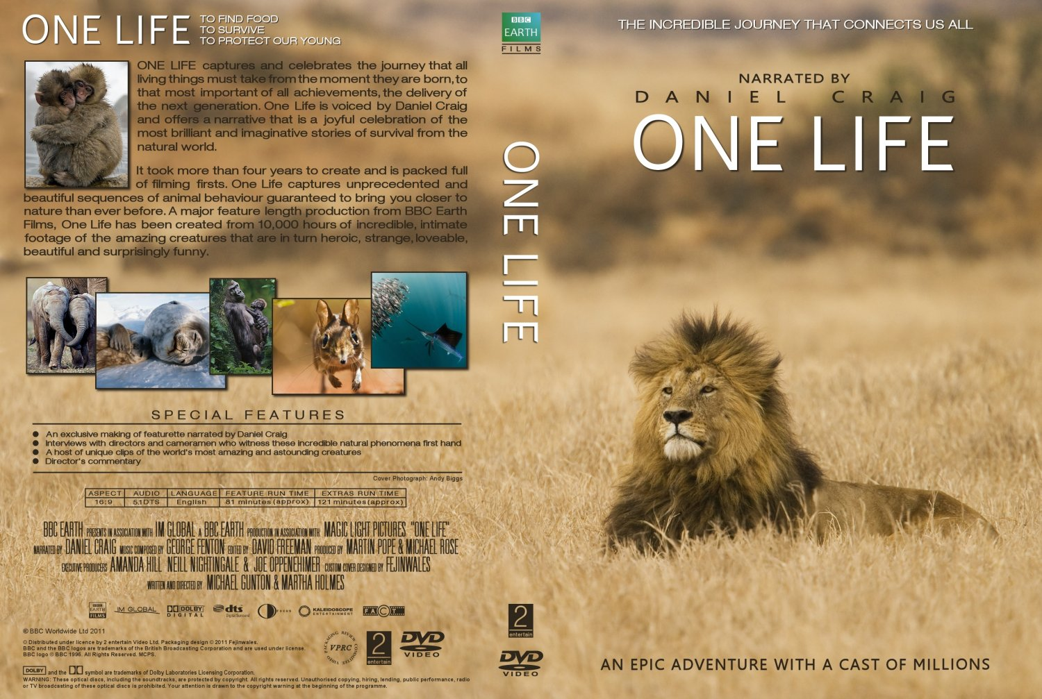 302 2 >> COVERS.BOX.SK ::: one life BBC 2011 - high quality DVD / Blueray / Movie