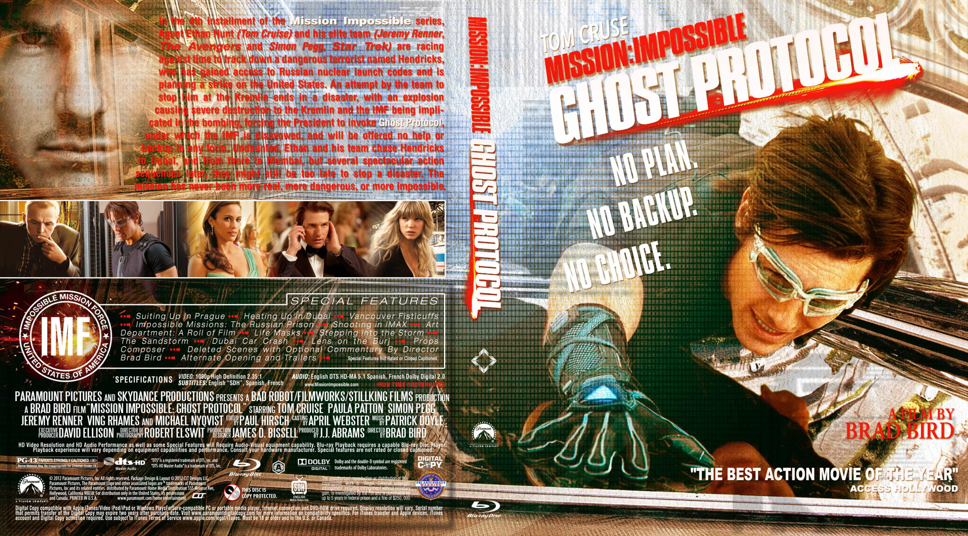 Covers Box Sk Mission Impossible Ghost Protocol 2011 Bluray High Quality Dvd Blueray Movie