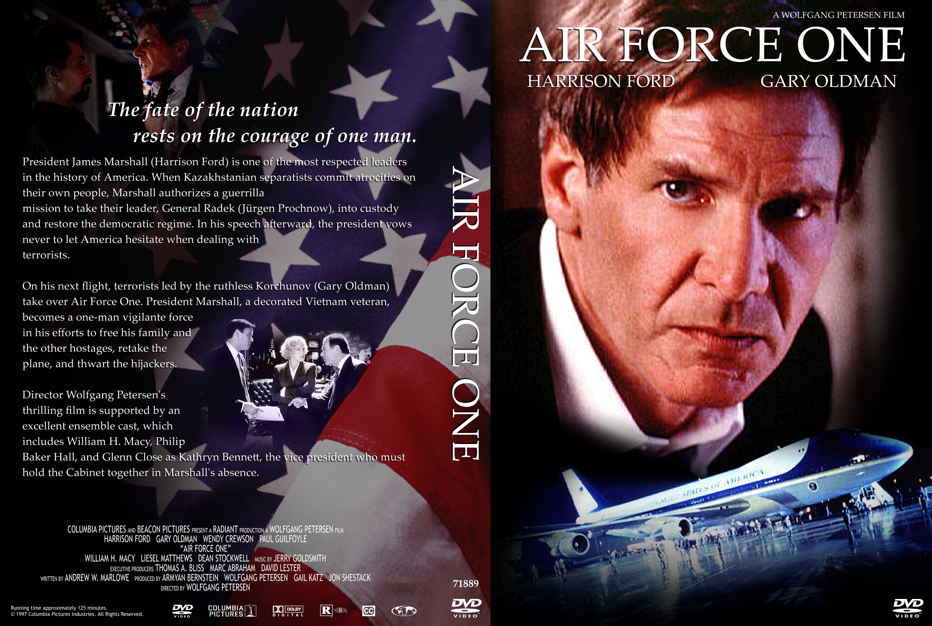 Covers Box Sk Air Force One High Quality Dvd Blueray