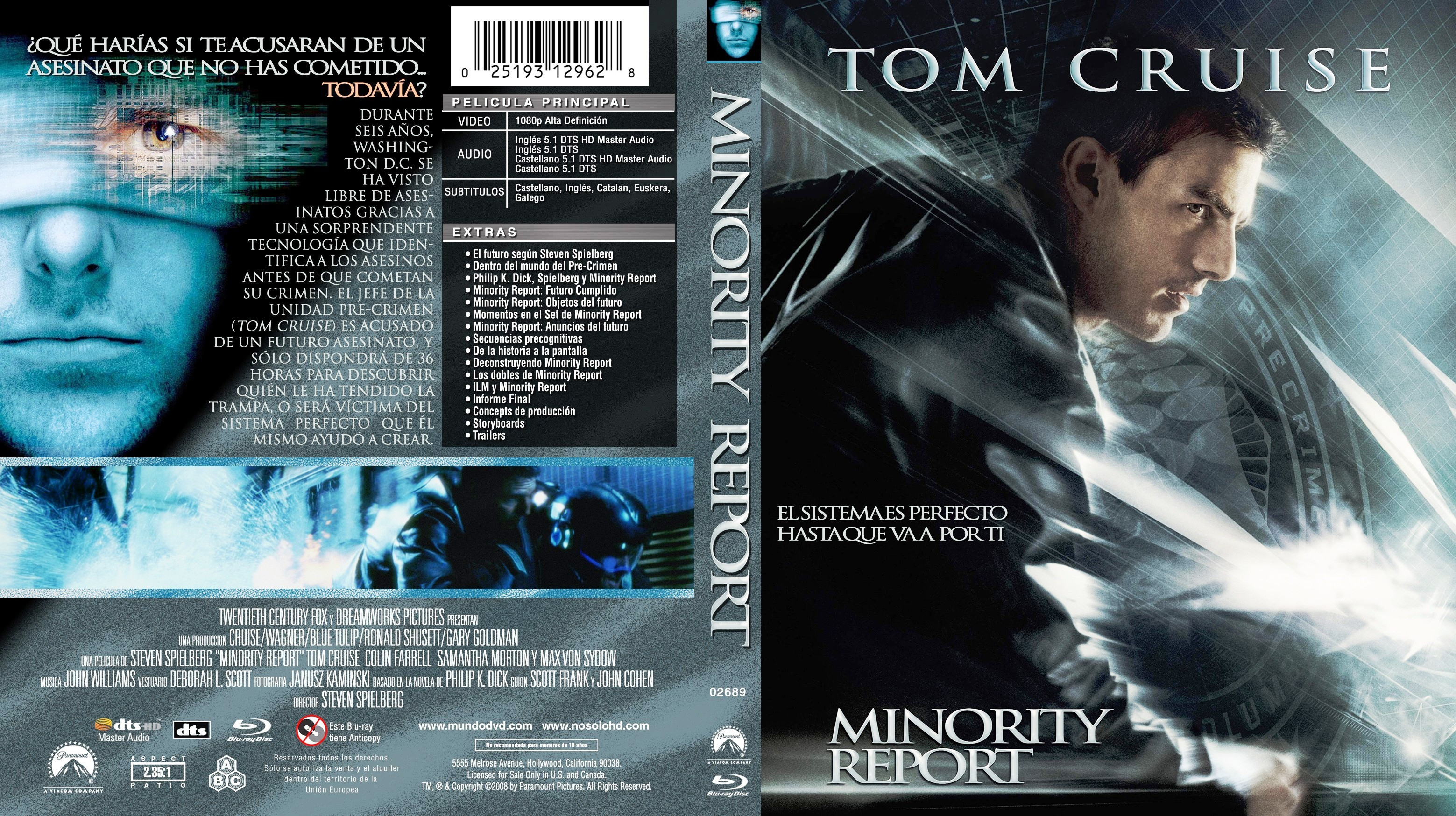 Covers Box Sk Minority Report 2002 High Quality Dvd Blueray Movie