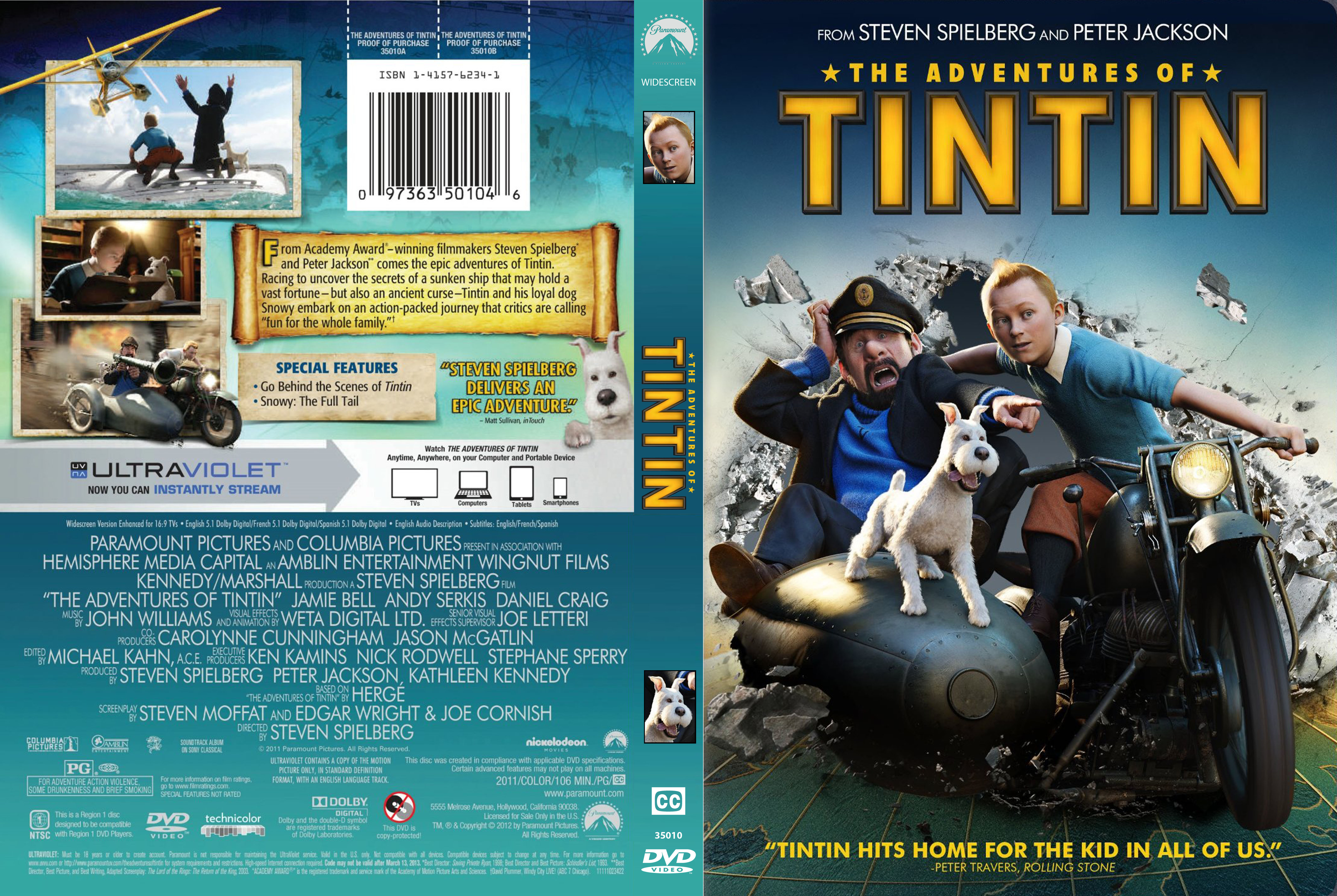 covers.box.sk ::: adventures of tintin - high quality dvd / blueray