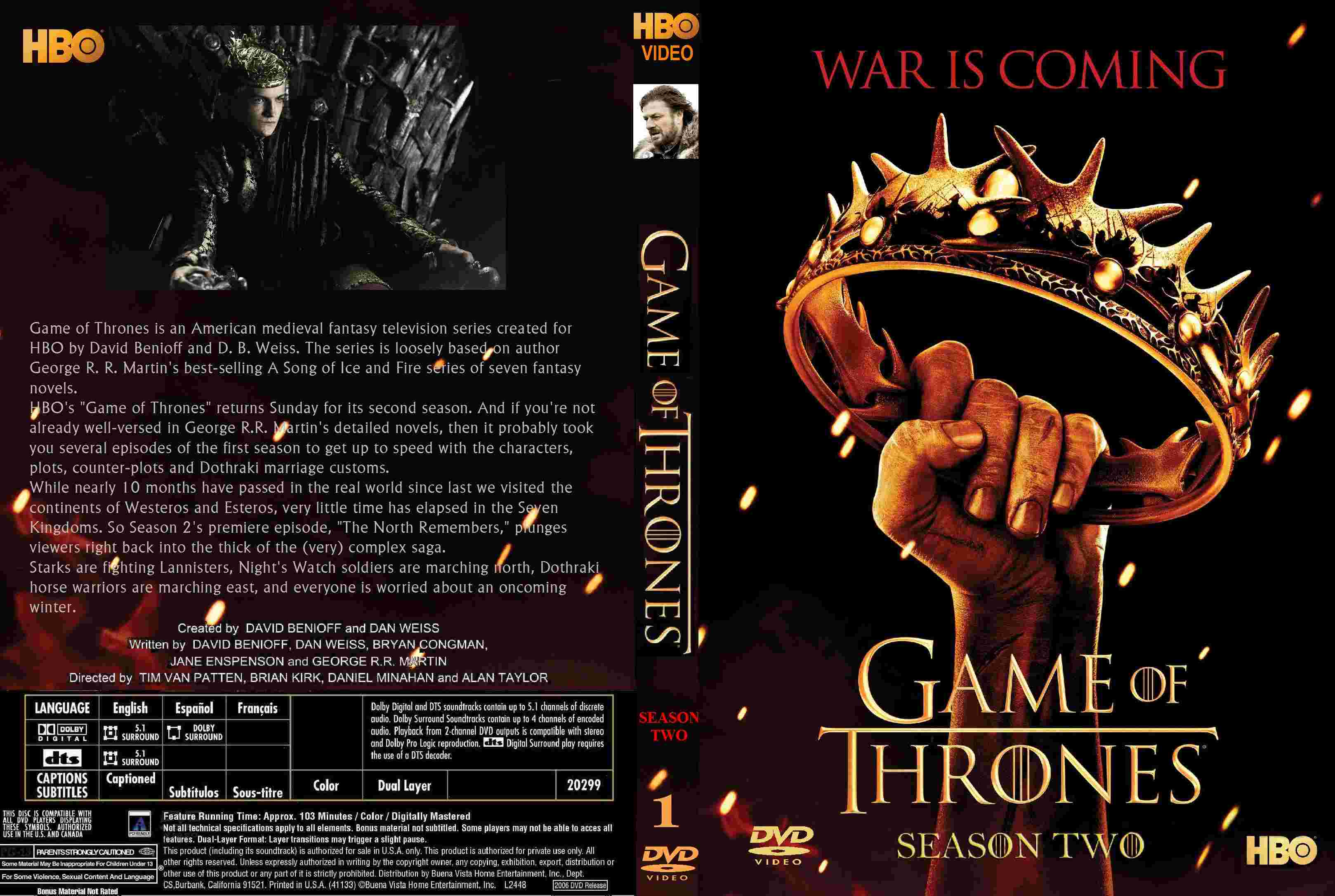 COVERS.BOX.SK ::: Game Of Thrones: Season 2 Volume 1 (2012