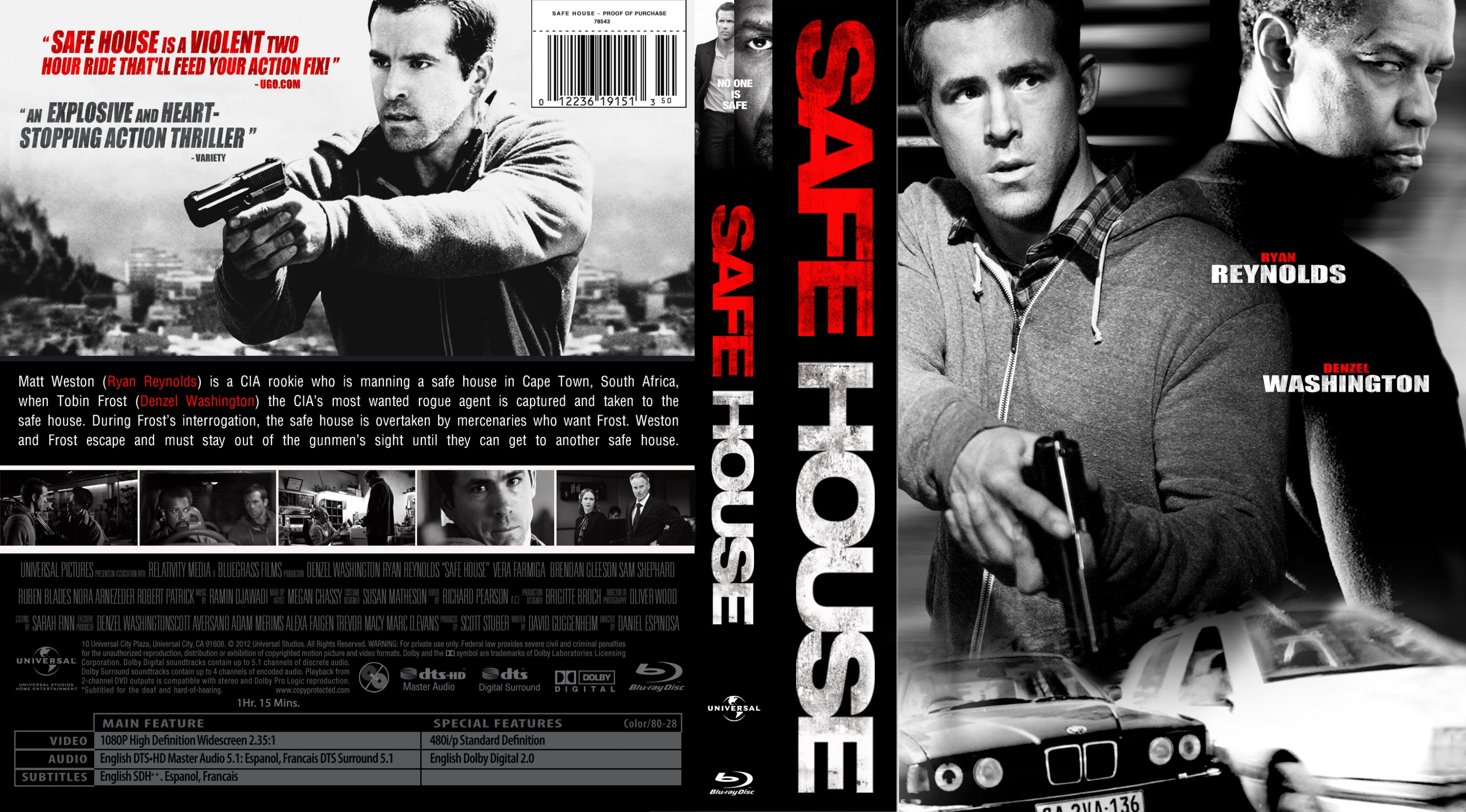 Covers Box Sk Safe House 2012 High Quality Dvd Blueray Movie