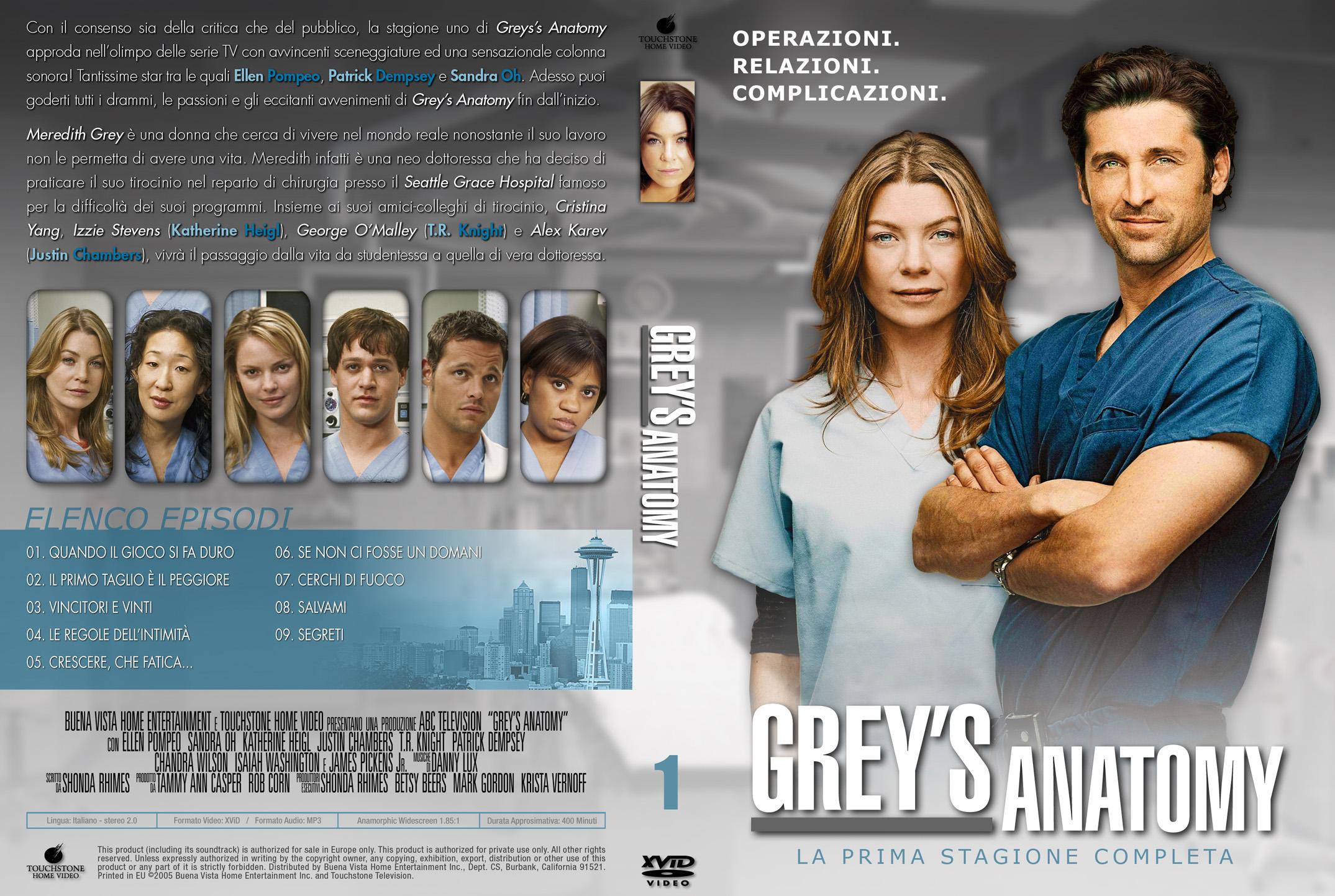 COVERS.BOX.SK ::: Grey\\\'s Anatomy season 1-2 - high quality DVD ...