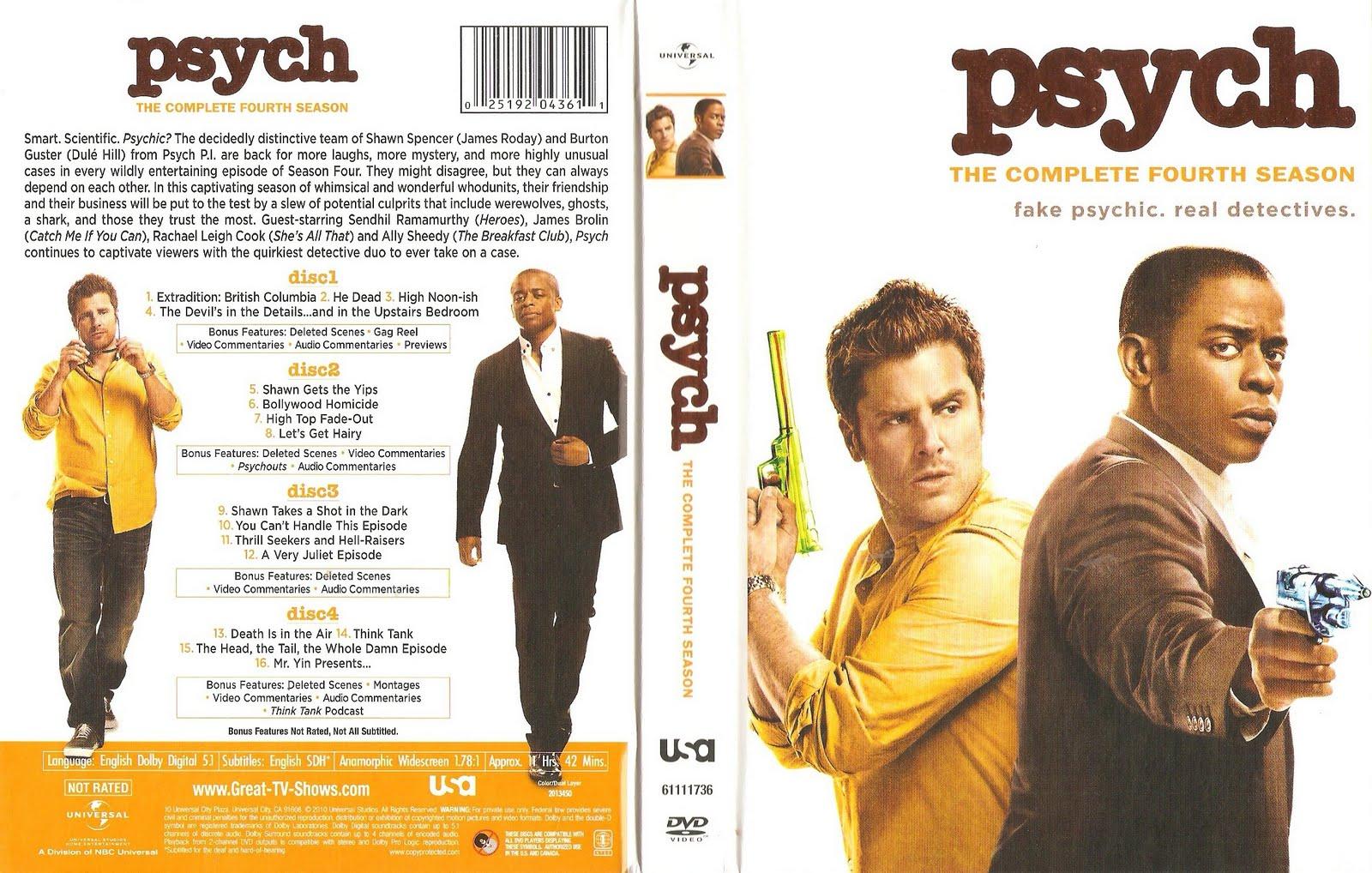 Psych Season 2 4 Dvds Jpc - Www imagez co