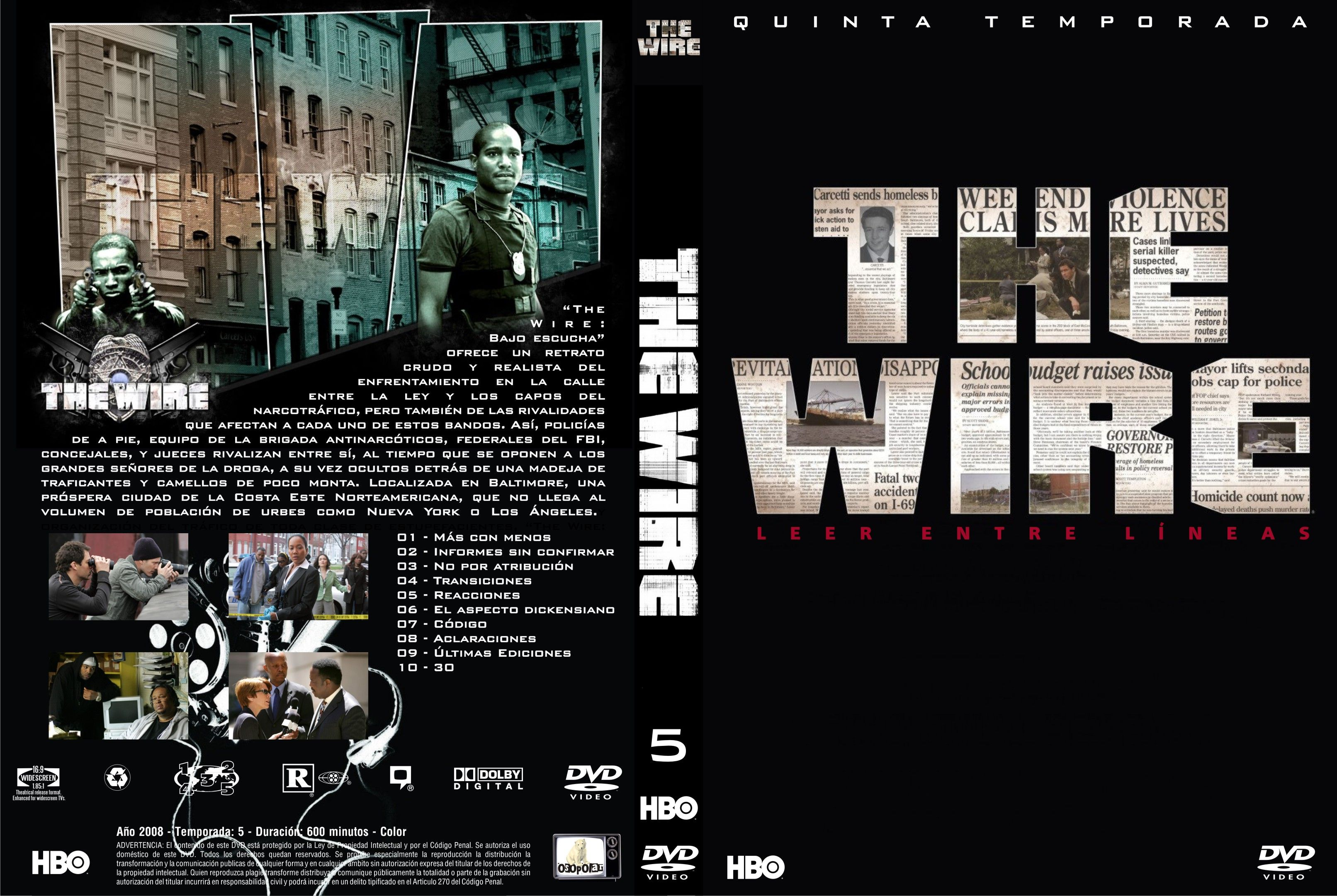 The Wire Imdb | Covers Box Sk The Wire S4 5 Imdb Dl5 High Quality Dvd