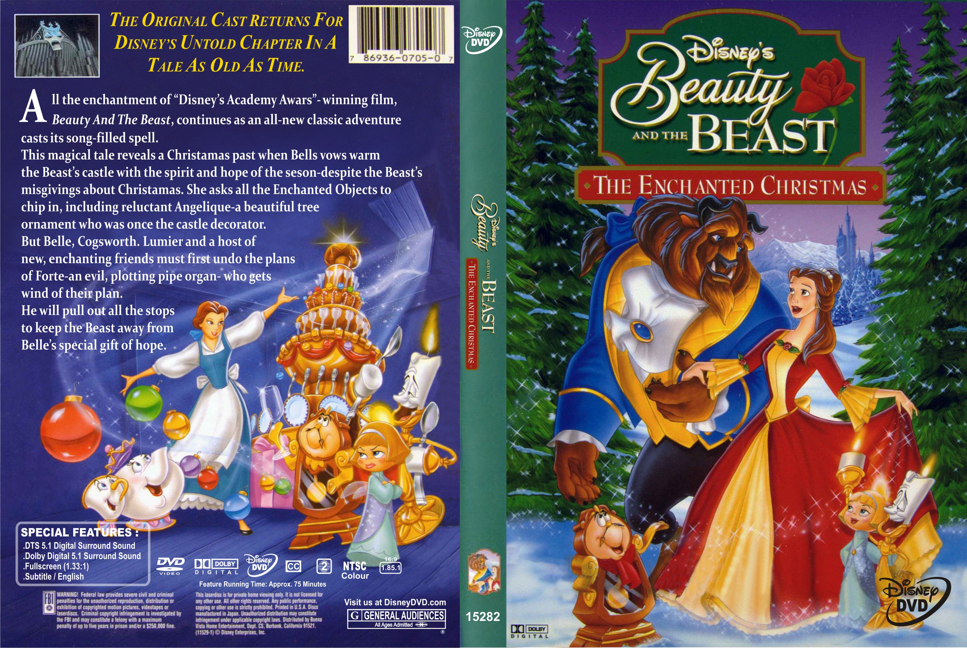COVERS.BOX.SK ::: beauty and the beast the enchanted christmas ...