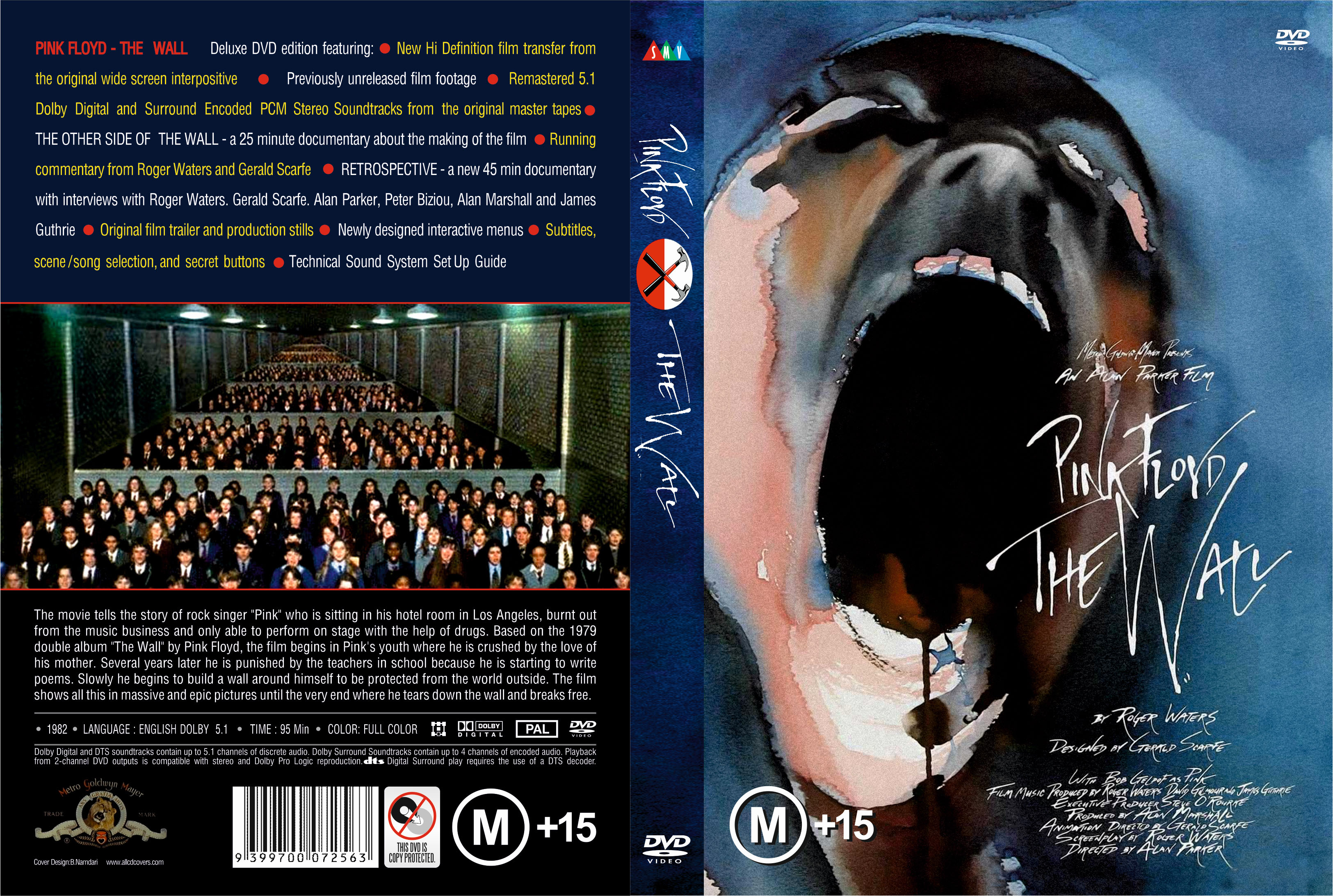 COVERS.BOX.SK ::: the wall - pink floyd 1982 - high quality DVD ...
