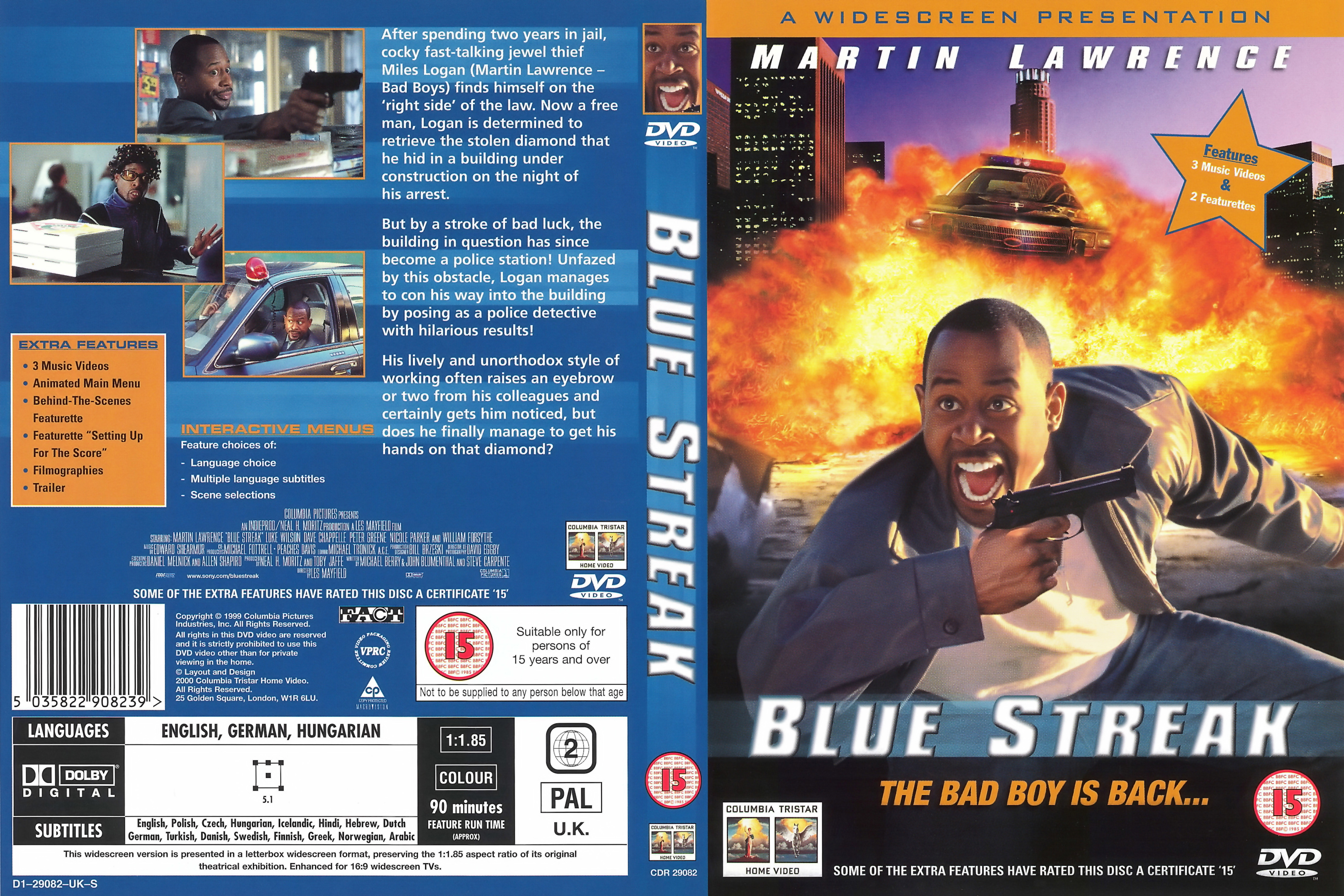 comprare 2020 belle scarpe COVERS.BOX.SK ::: blue streak [imdb-dl5] - high quality DVD ...