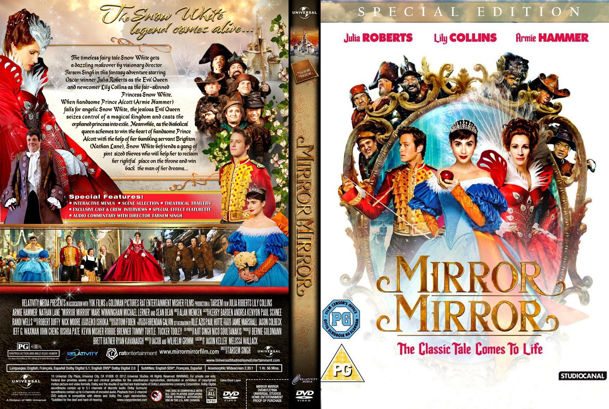 Covers Box Sk Mirror Mirror 2012 High Quality Dvd Blueray Movie