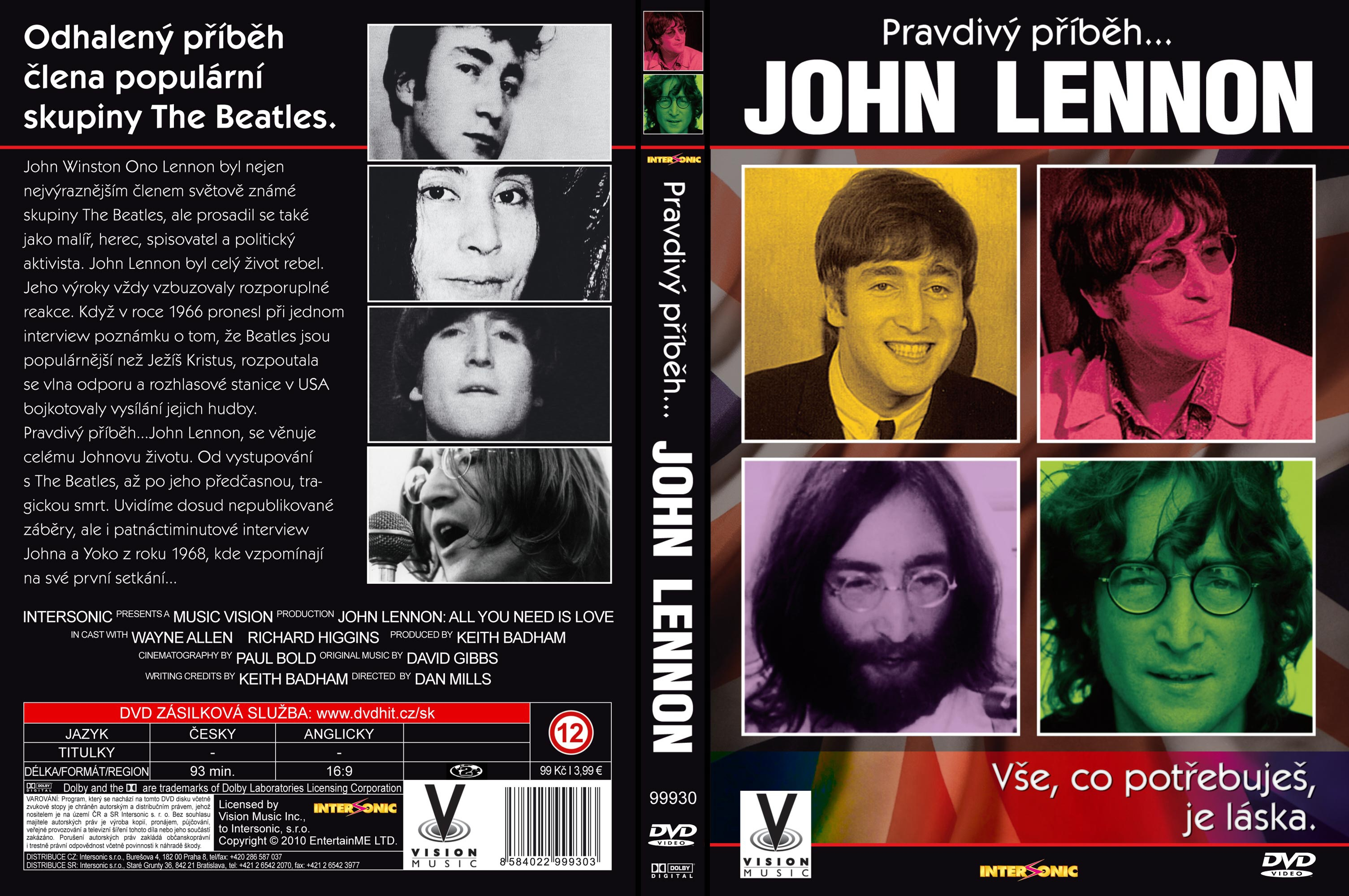 Covers Box Sk John Lennon All You Need Is Love High Quality Dvd Blueray Movie