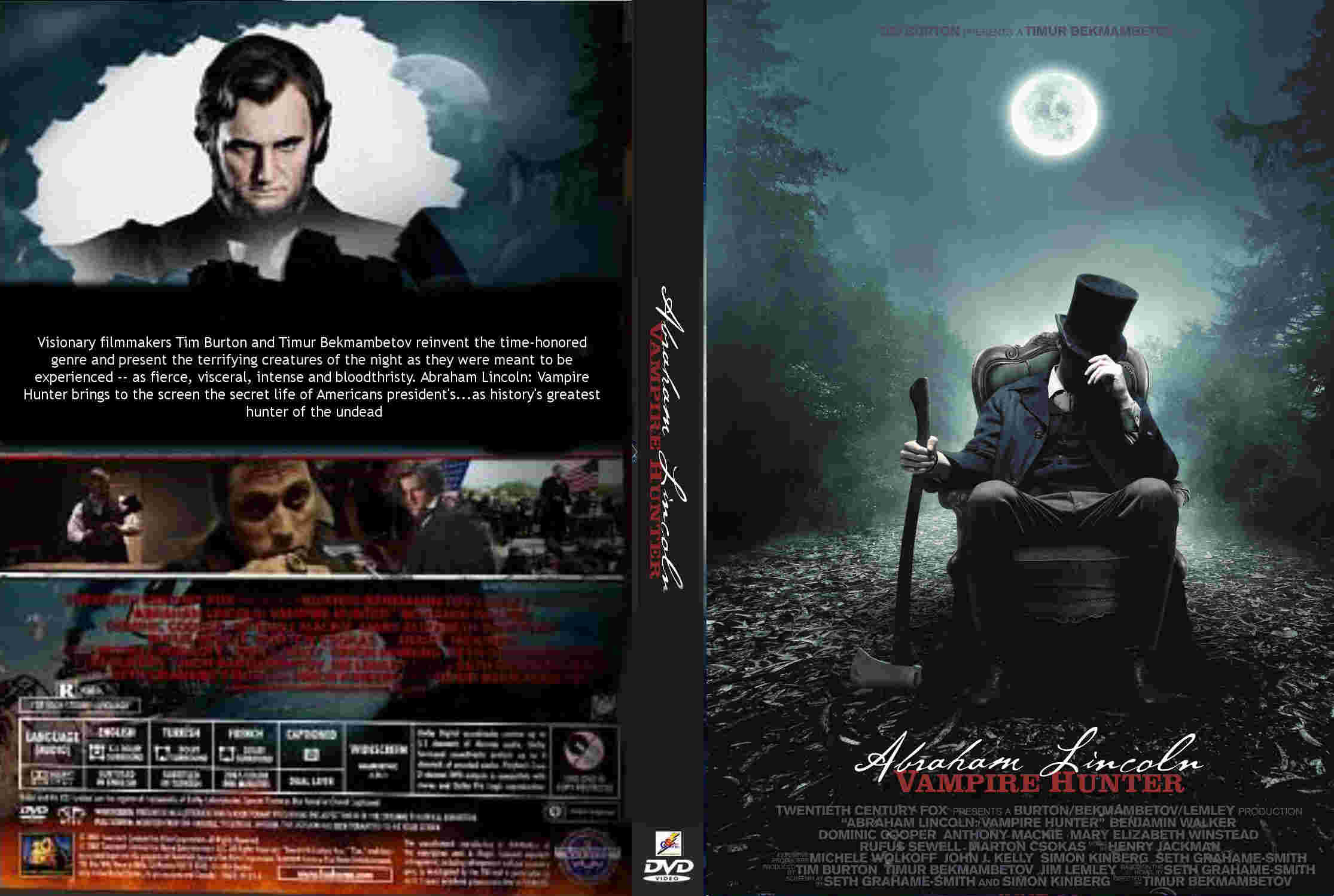 film, ryemovies, ganool movies, 2012, download free, gratis subtitle, terjemah indonesia, Benjamin Walker, Rufus Sewell, Dominic Cooper, Abraham Lincoln, Vampire Hunter