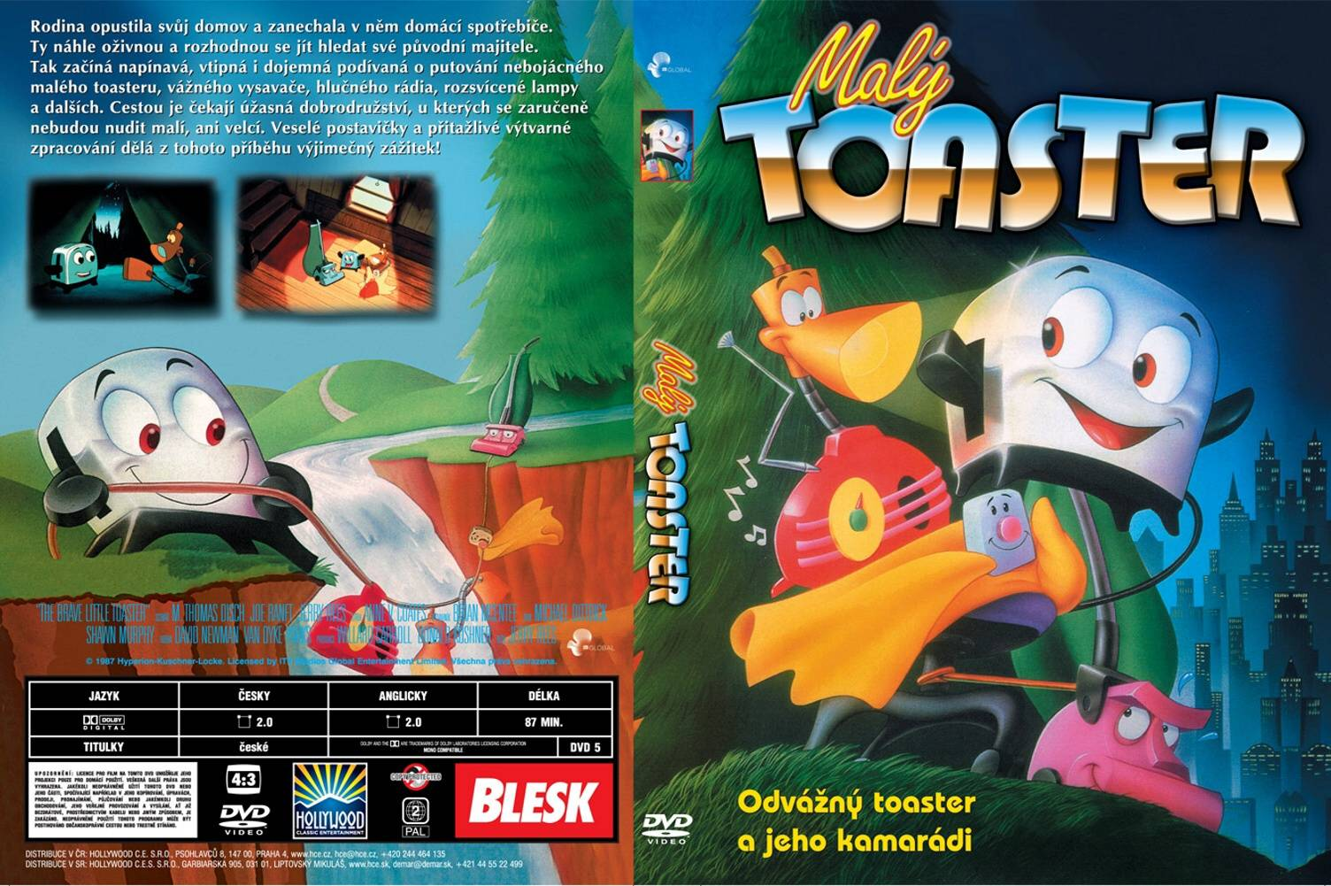 COVERS BOX SK Brave Little Toaster The 1987 high quality