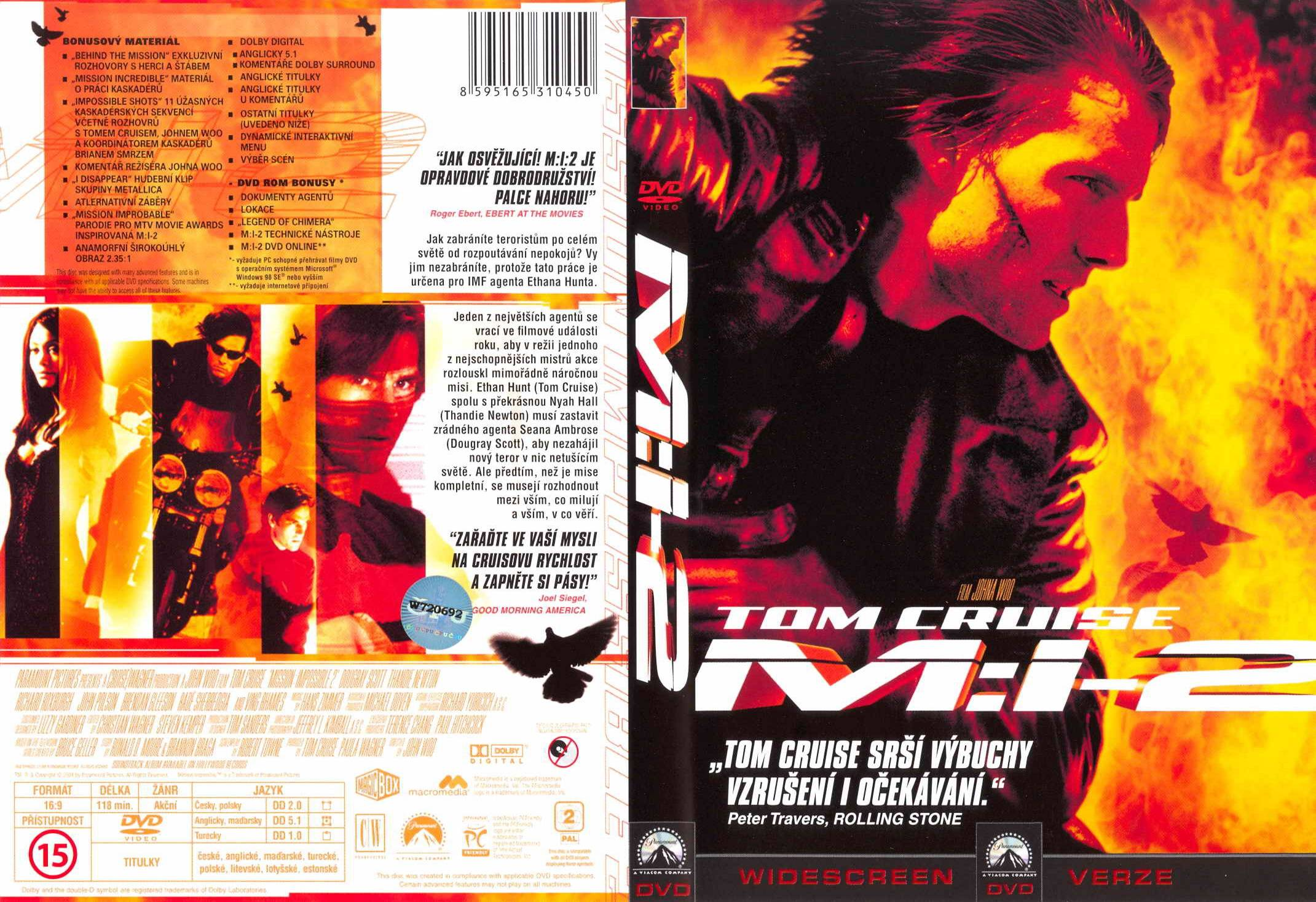 Covers Box Sk Mission Impossible Ii 2000 High Quality Dvd Blueray Movie