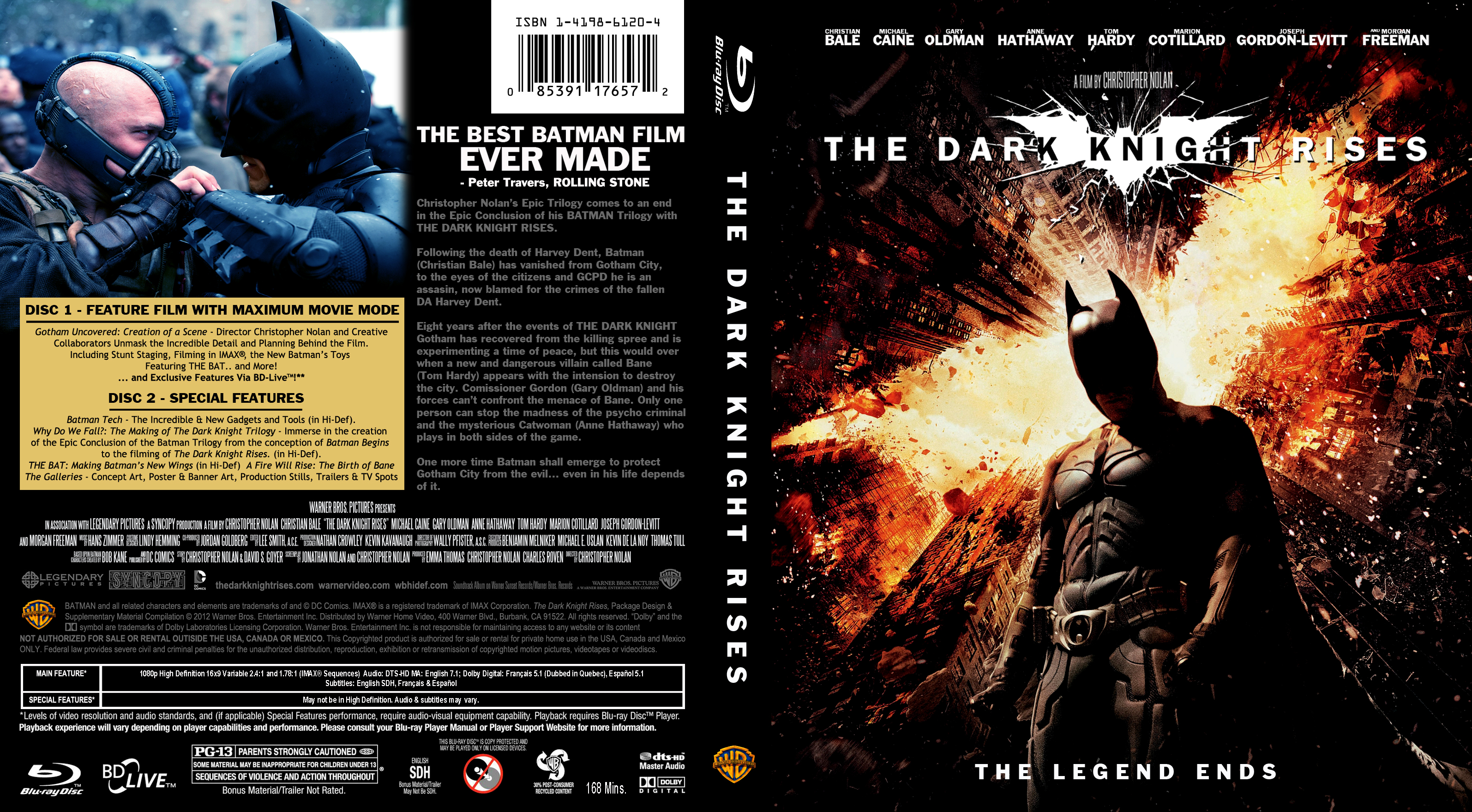 covers box sk dark knight rises blu ray version imdb. Black Bedroom Furniture Sets. Home Design Ideas