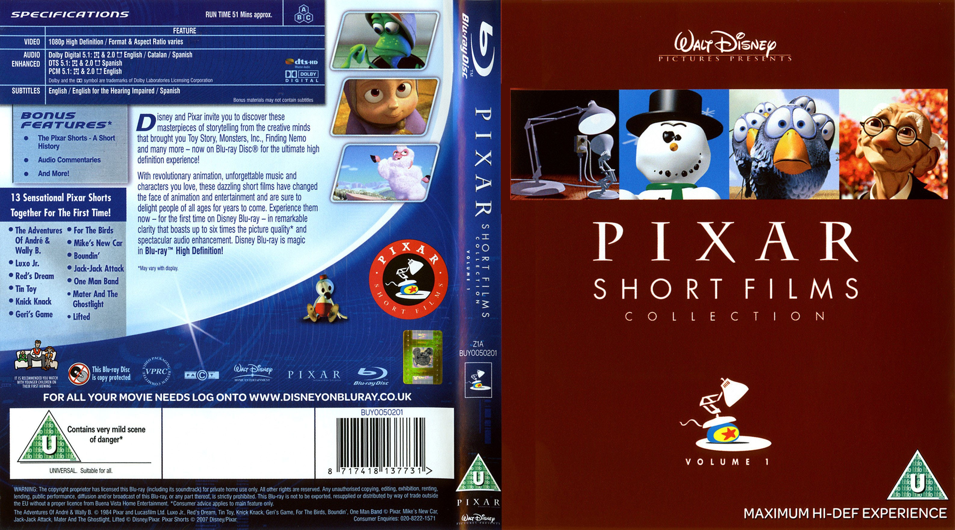 covers.box.sk ::: pixar short films collection blu-ray version [imdb
