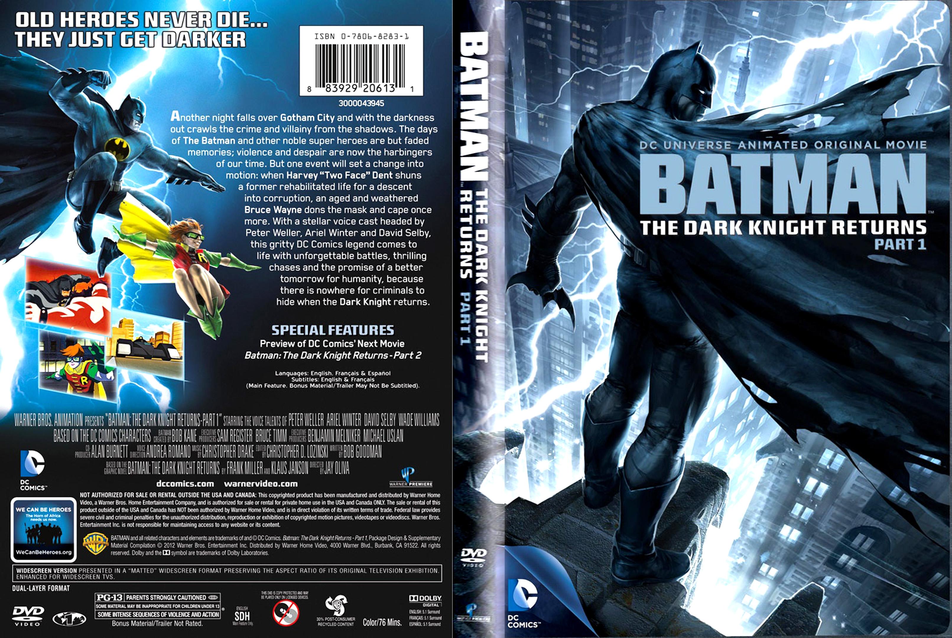 Batman: The Dark Knight Returns, Part 1 (DVD, 2012) for ...