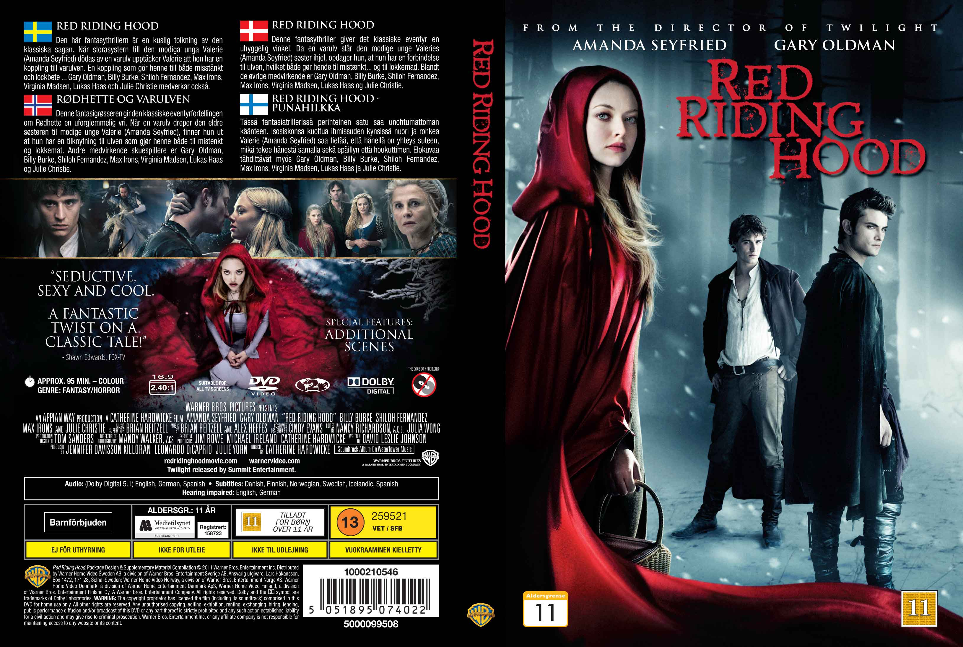Covers Box Sk Red Riding Hood 2011 Nordic High Quality