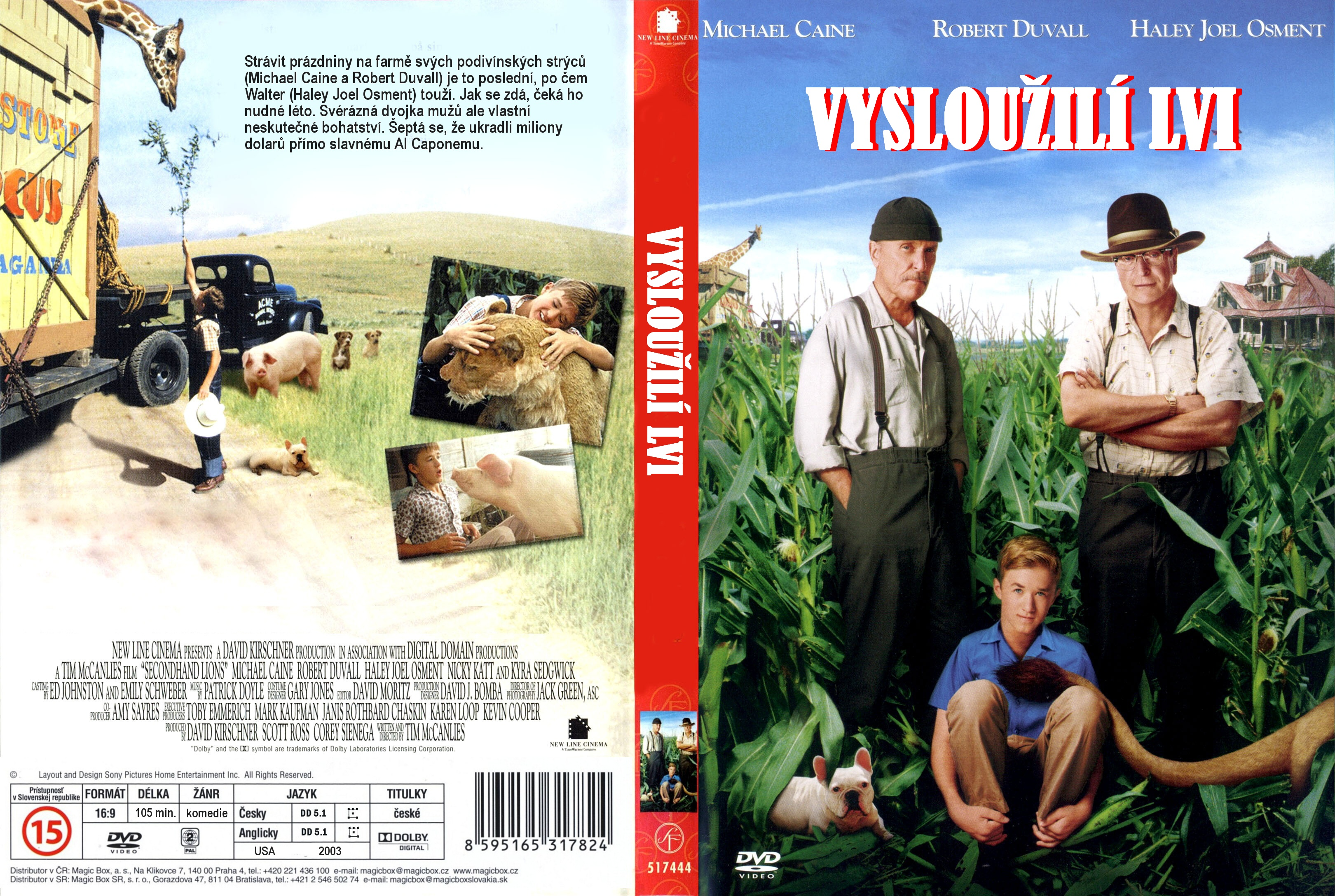 COVERS BOX SK ::: Secondhand Lions (2003) - high quality DVD