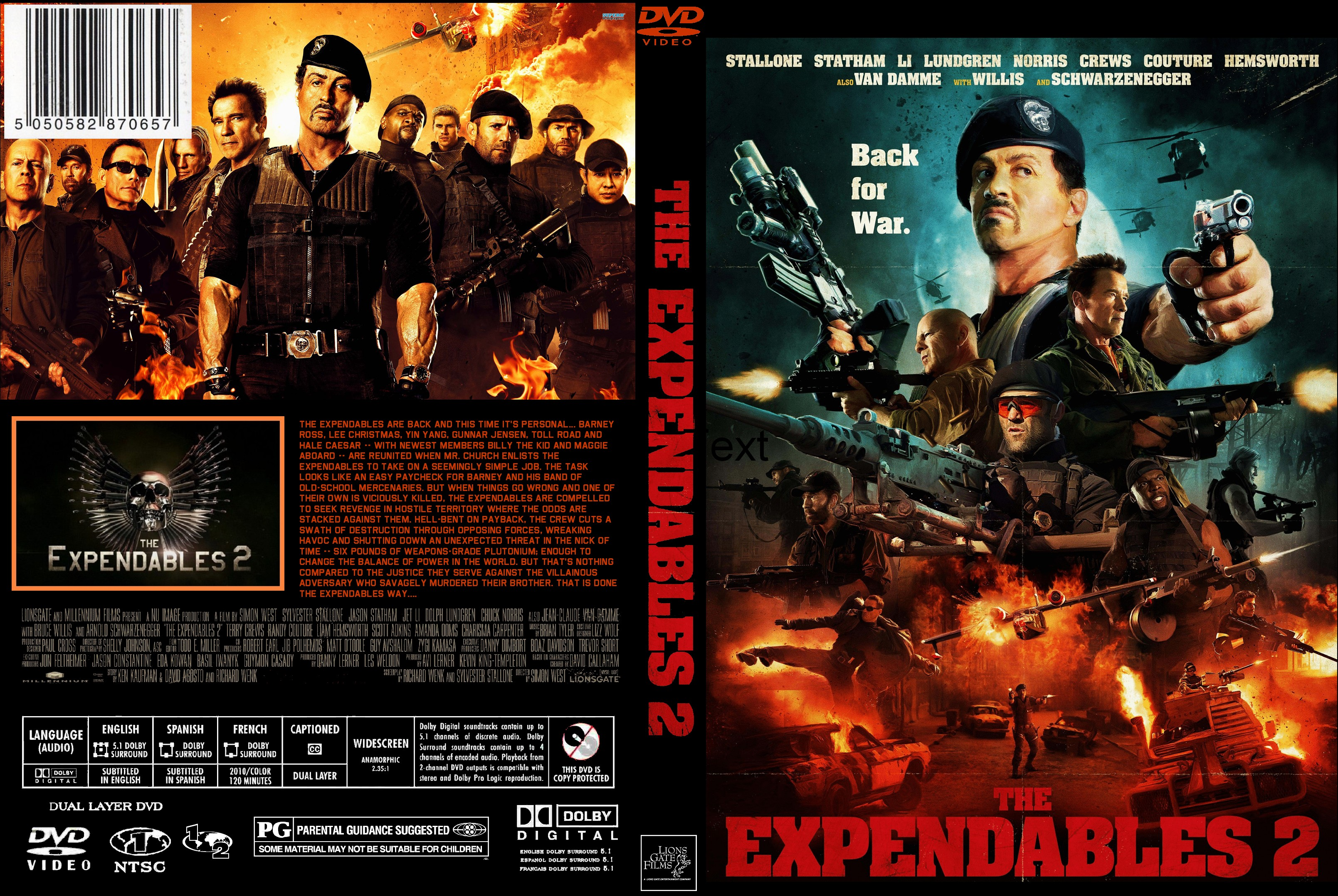 coversboxsk the expendables 2 high quality dvd