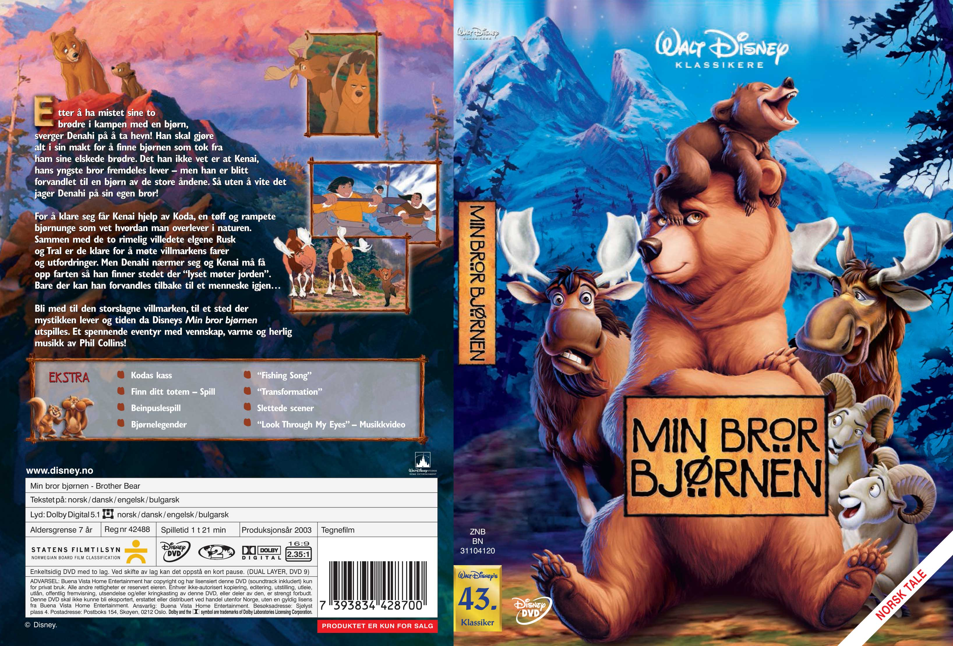 Covers Box Sk Brother Bear 2003 High Quality Dvd Blueray Movie