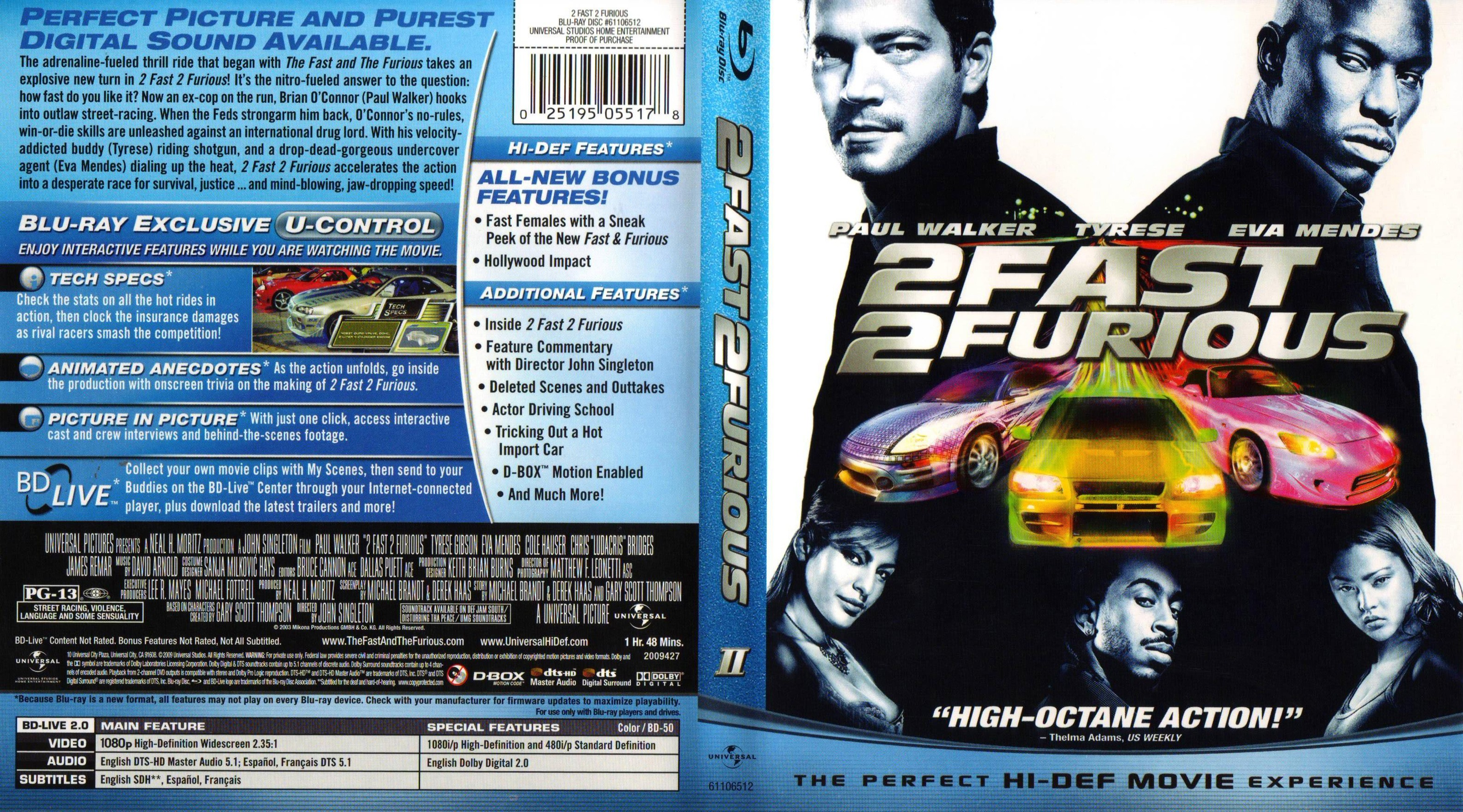 Covers Box Sk 2 Fast 2 Furious 2003 High Quality Dvd Blueray Movie