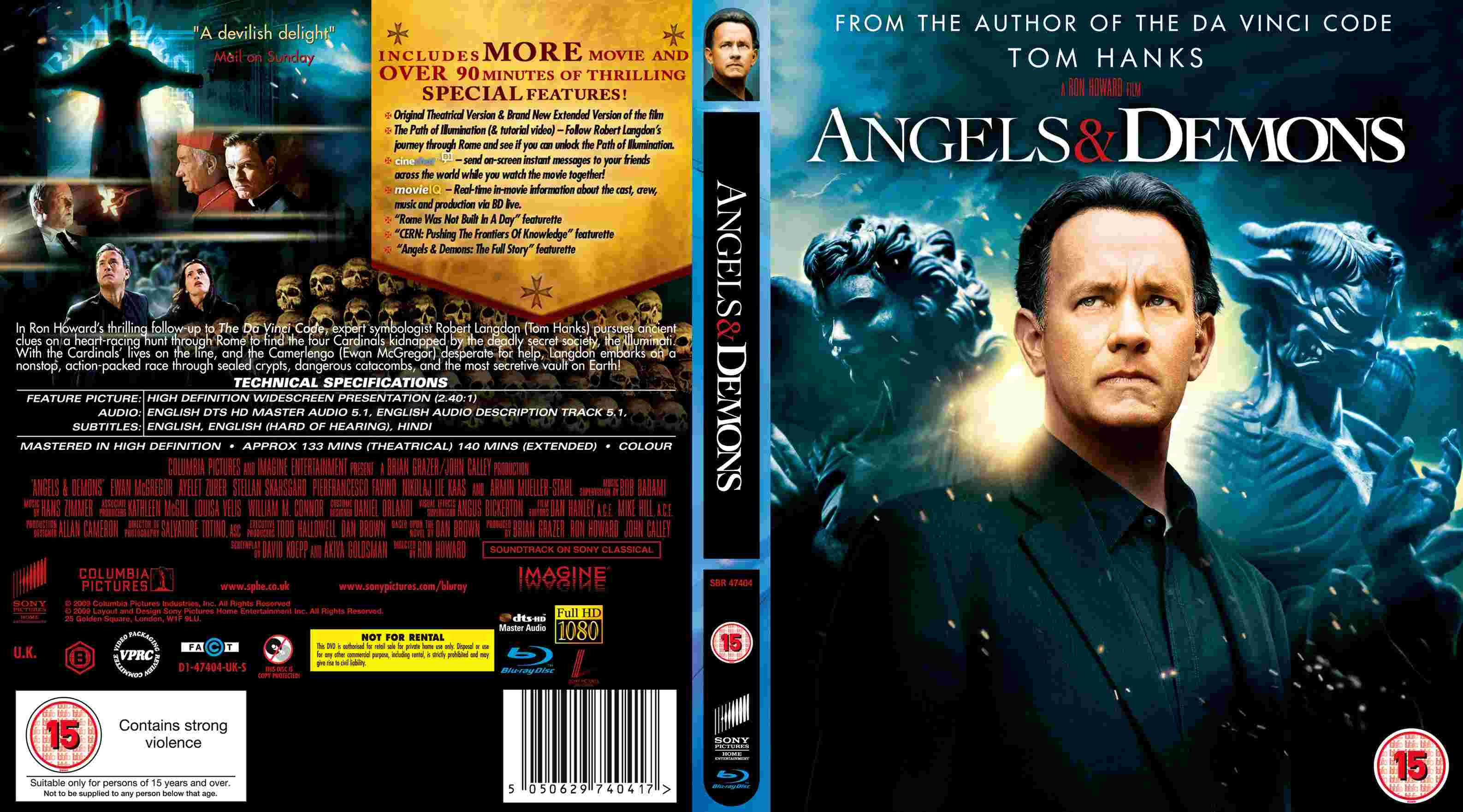 Covers Box Sk Angels Demons High Quality Dvd Blueray Movie
