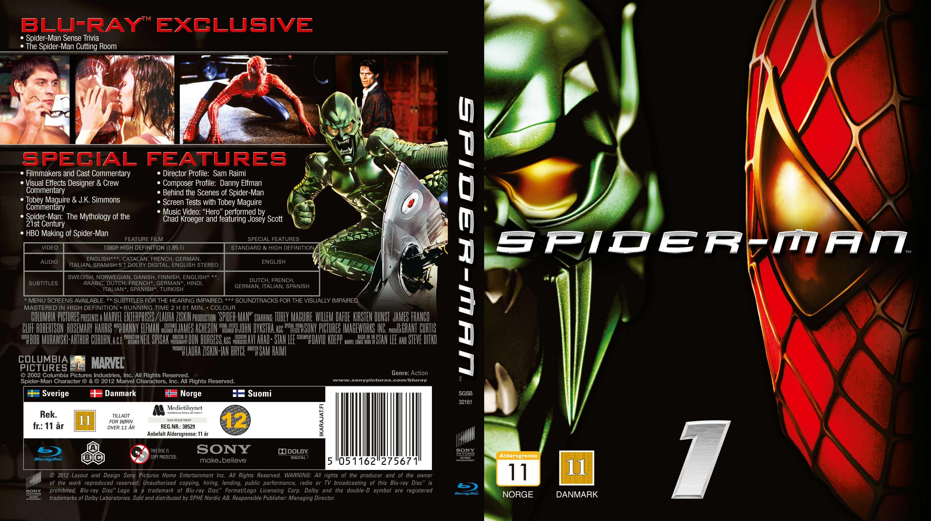 image gallery spider man 1 dvd. Black Bedroom Furniture Sets. Home Design Ideas