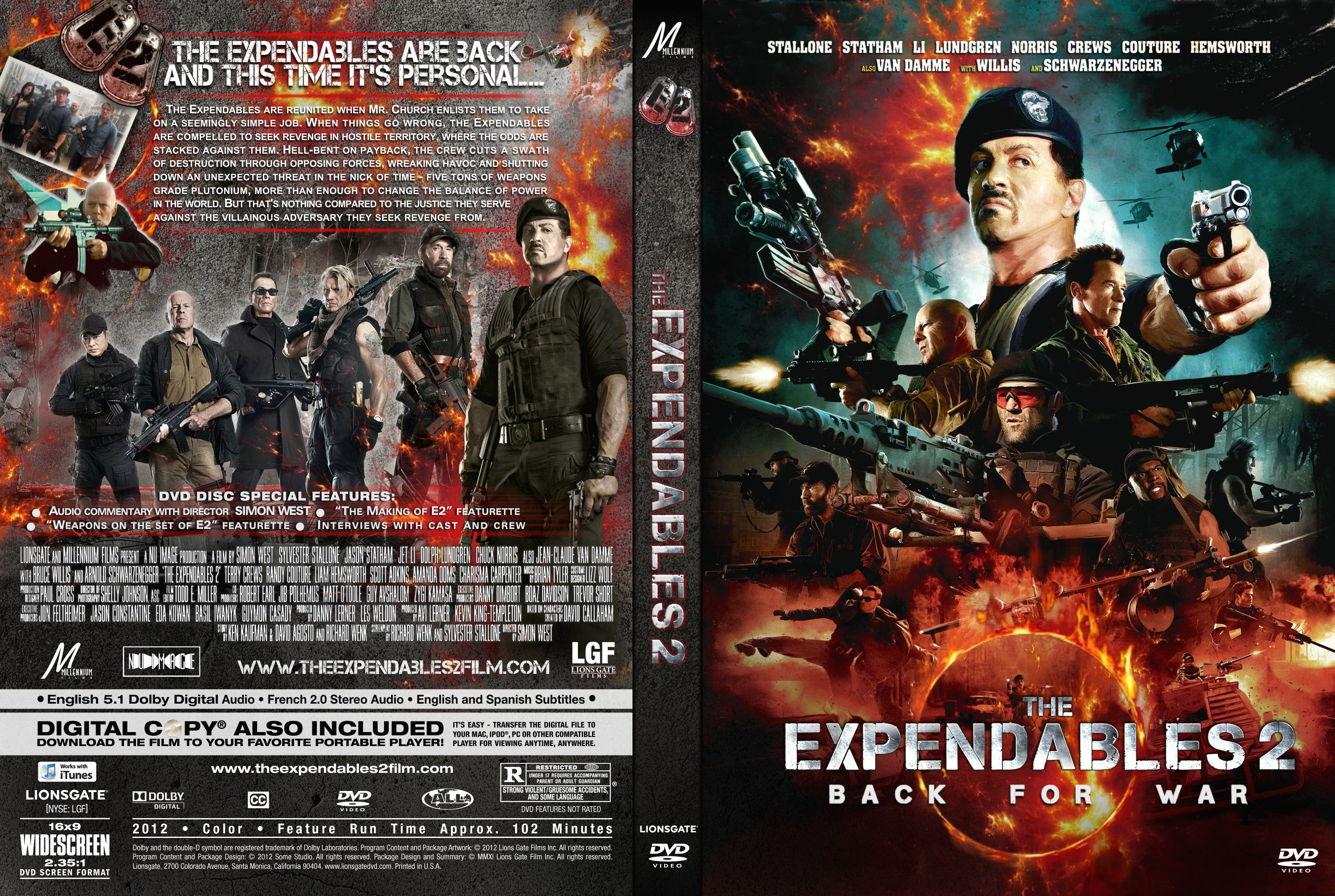 Covers Box Sk The Expendables 2 2012 High Quality Dvd Blueray Movie
