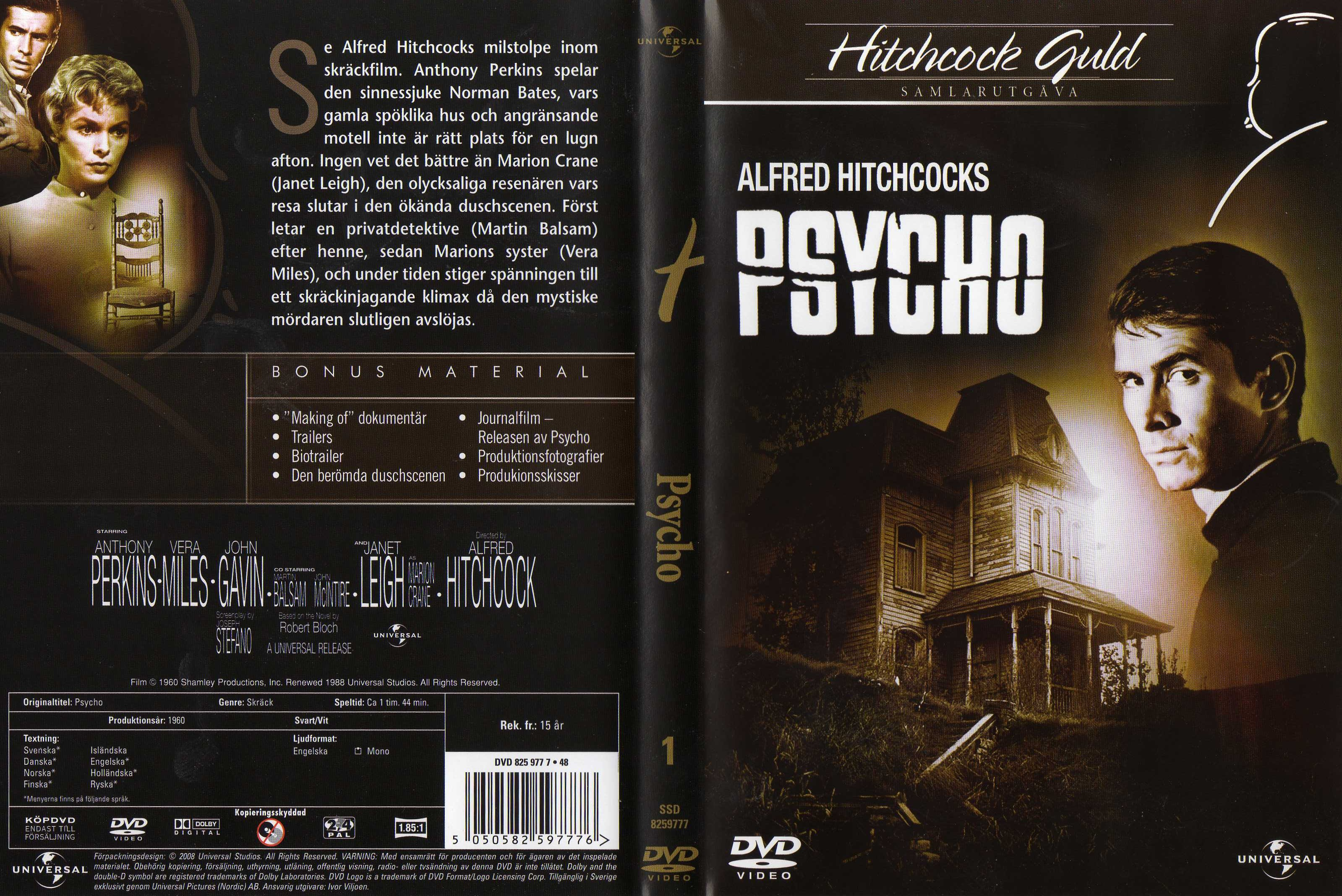 COVERS BOX SK ::: Psycho (1960) - high quality DVD / Blueray