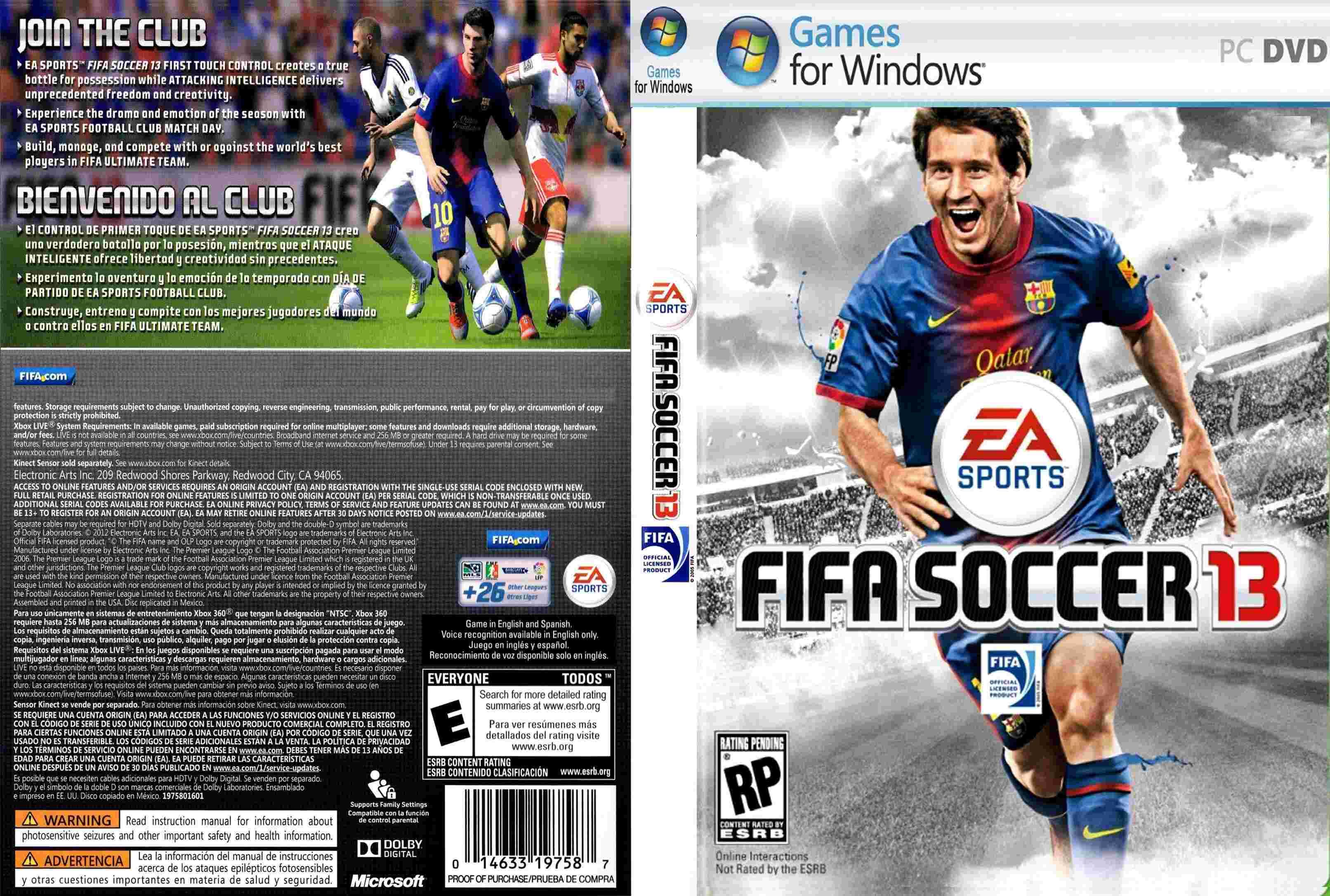 Juegos Fifa13 Online Max Frontback Cover