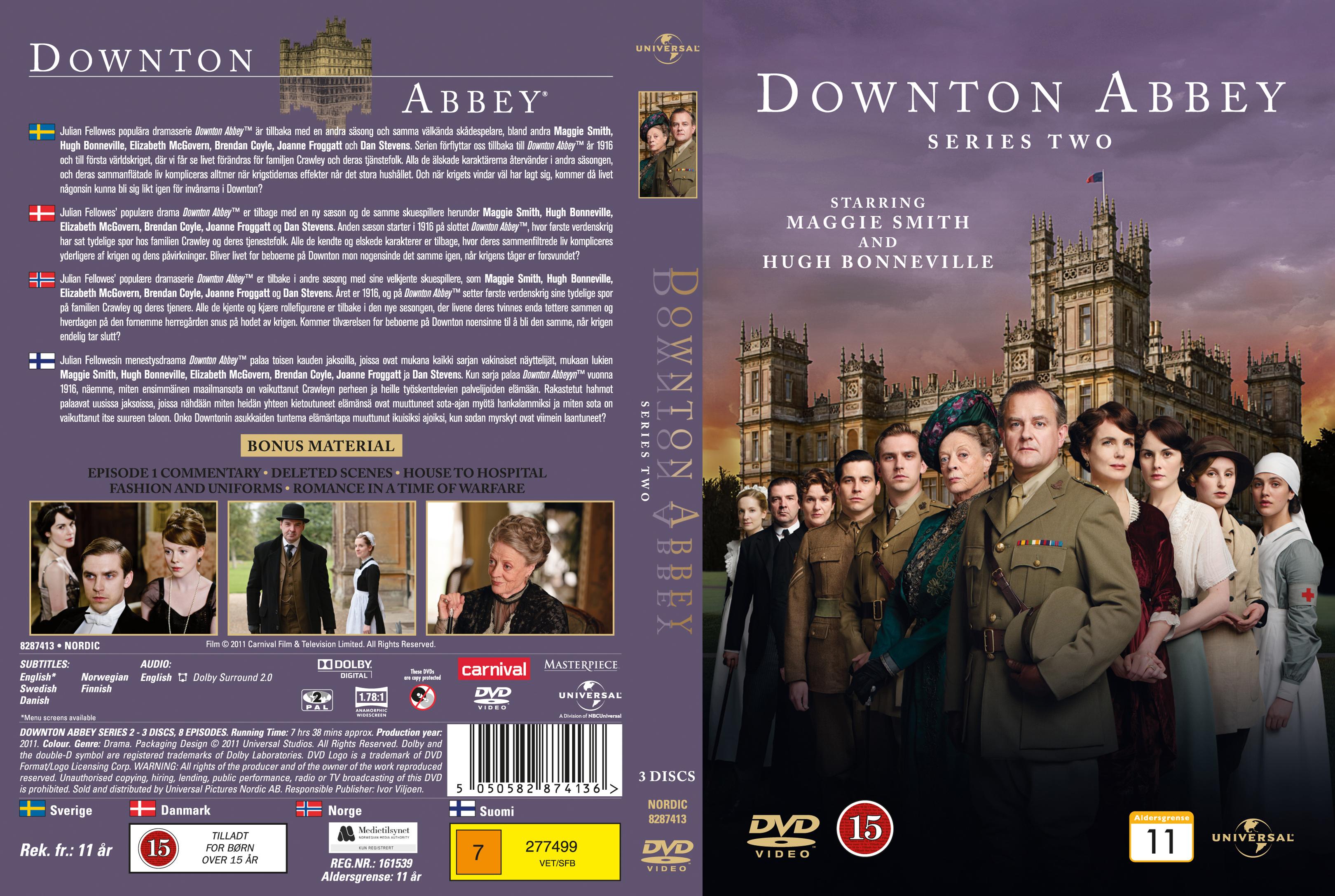 COVERS.BOX.SK ::: Downton Abbey - Season 2 (Nordic) - high quality ...