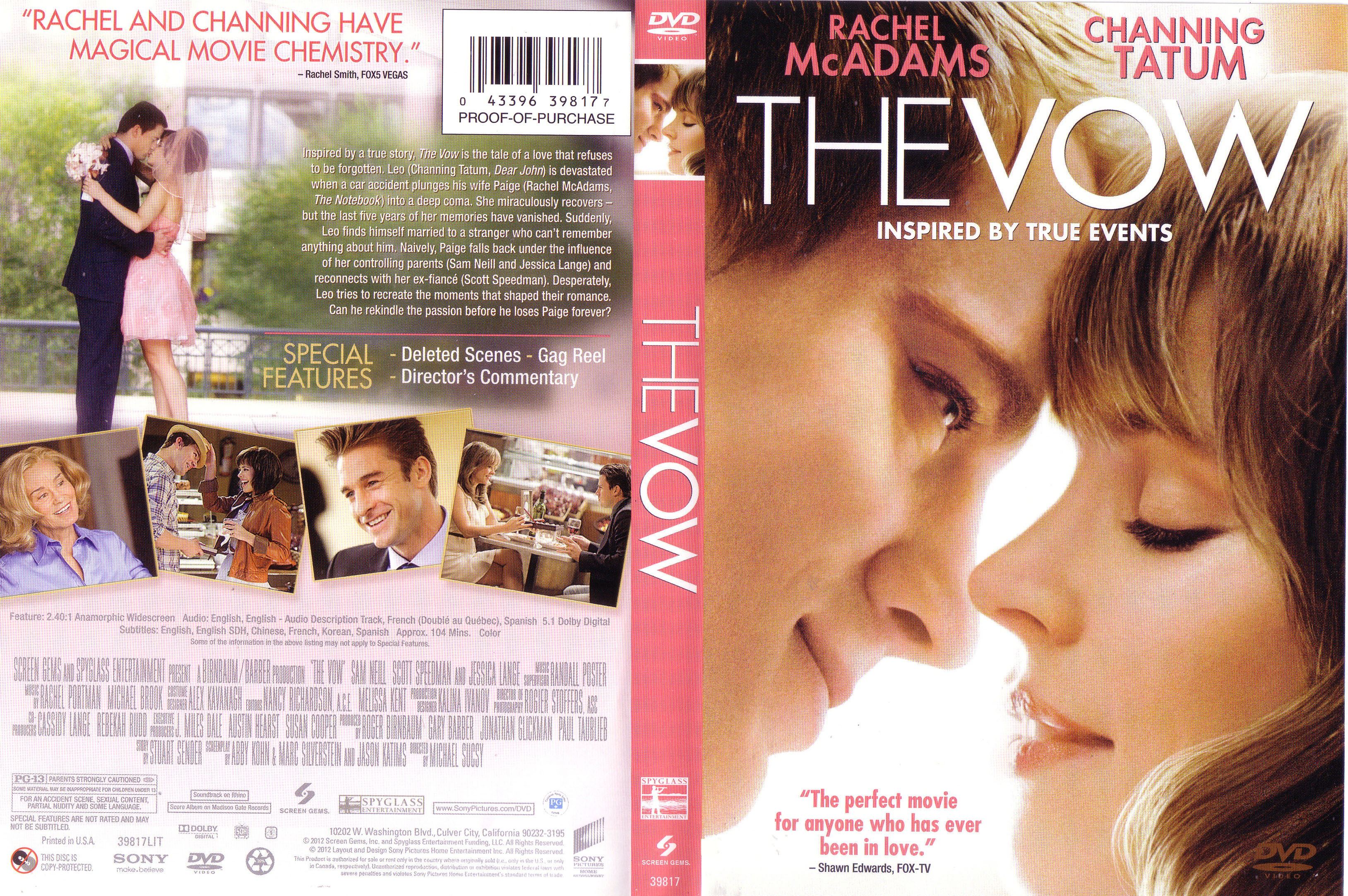 Covers Box Sk The Vow 2012 High Quality Dvd Blueray Movie