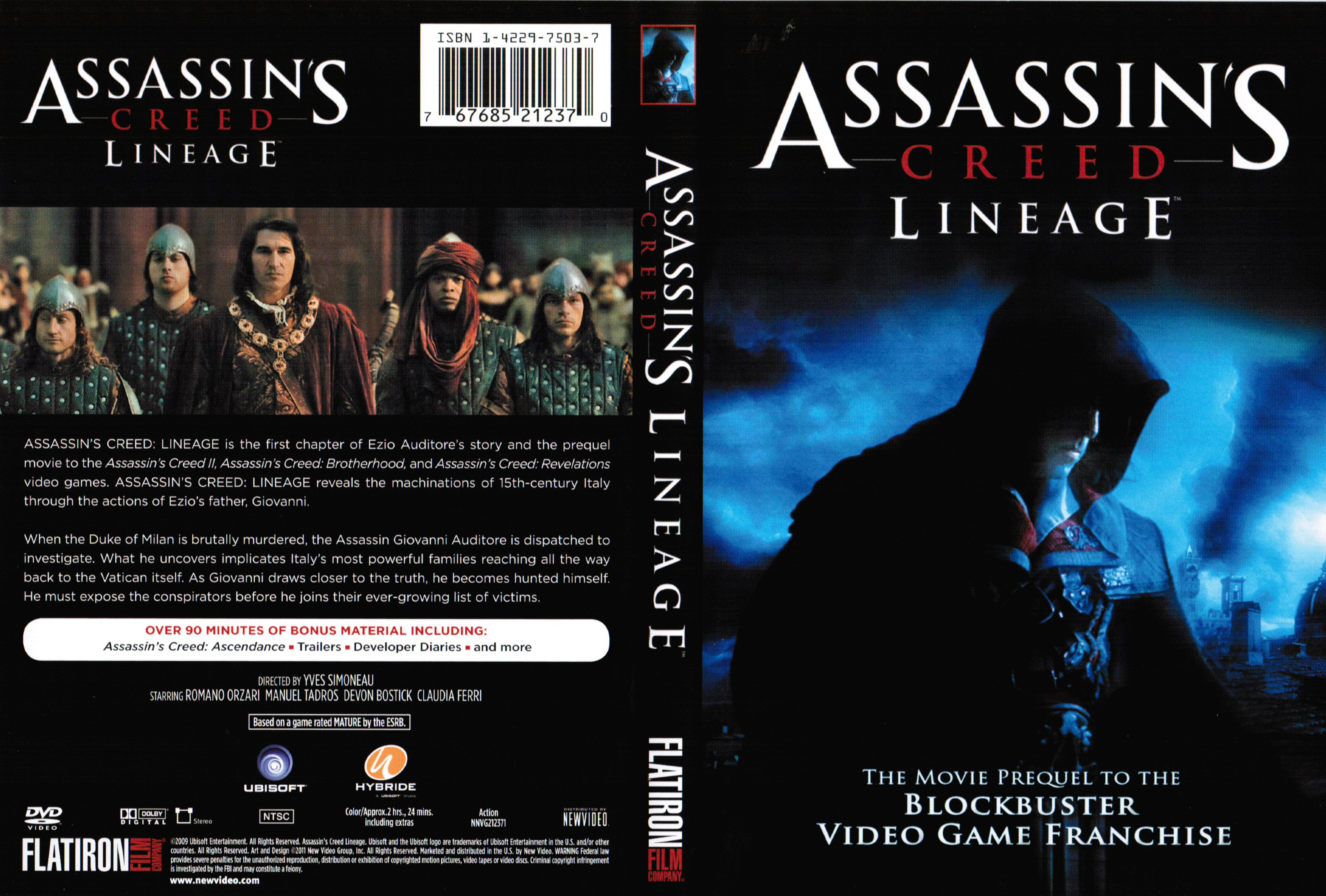 Covers Box Sk Assassin S Creed Lineage High Quality Dvd