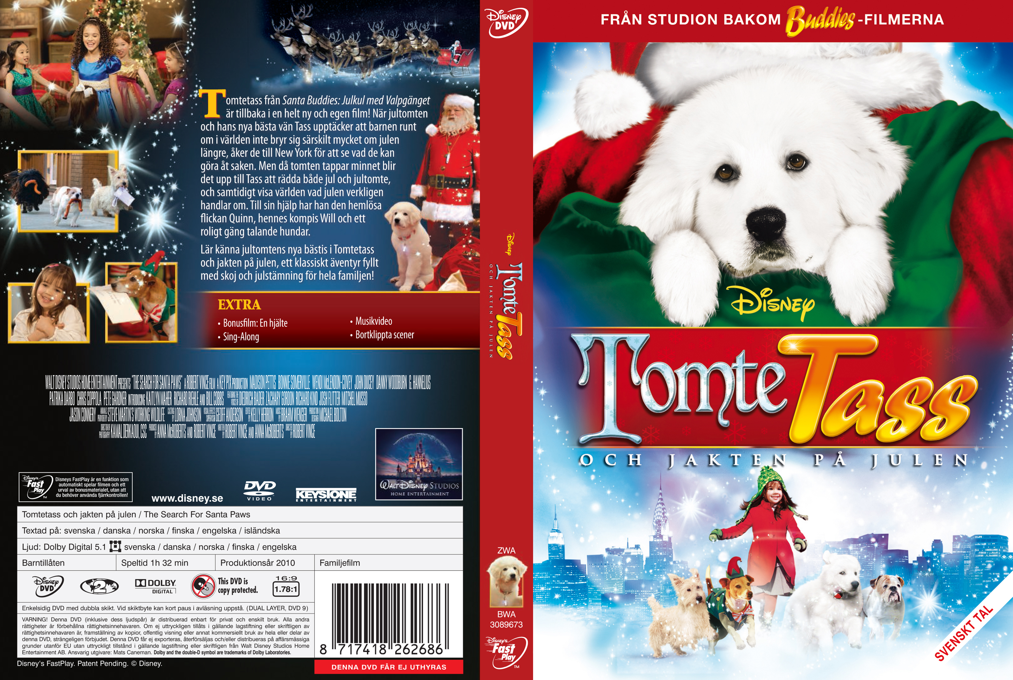 The Search for Santa Paws - Tomtetass och jakten p  229  julen - frontThe Search For Santa Paws