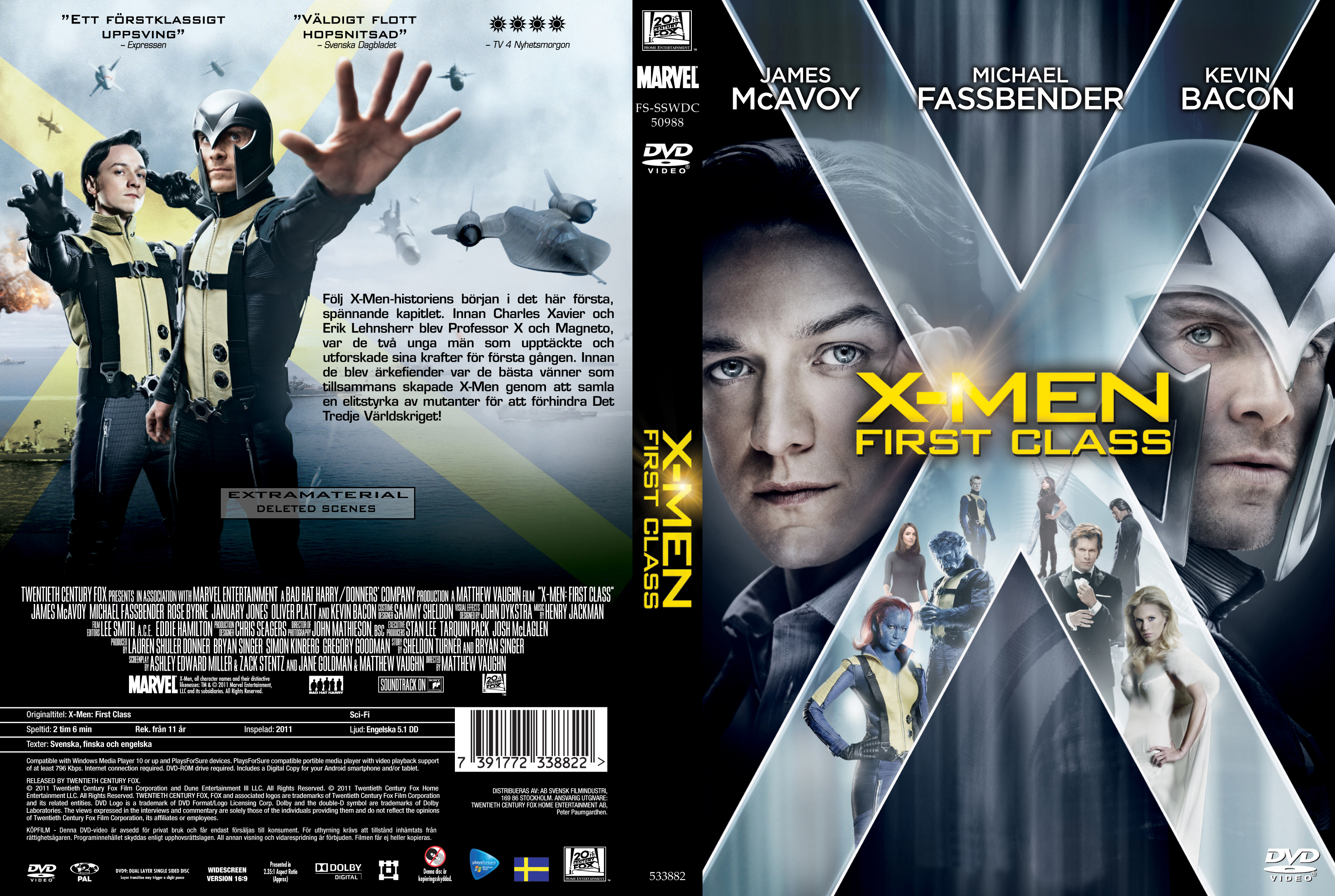 X Men Dvd Cover: COVERS.BOX.SK ::: X-Men First Class