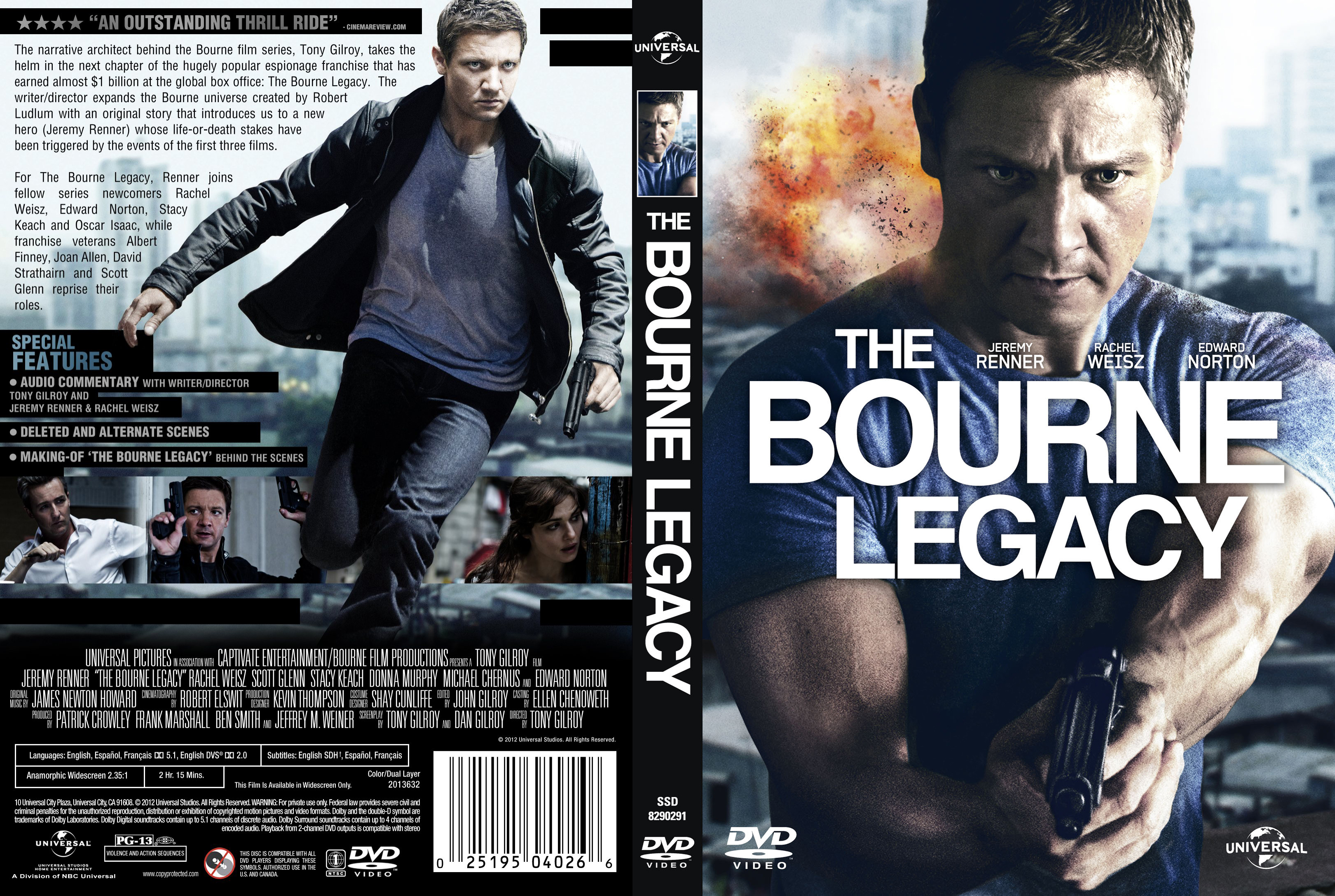 Covers Box Sk The Bourne Legacy 2012 High Quality Dvd Blueray Movie