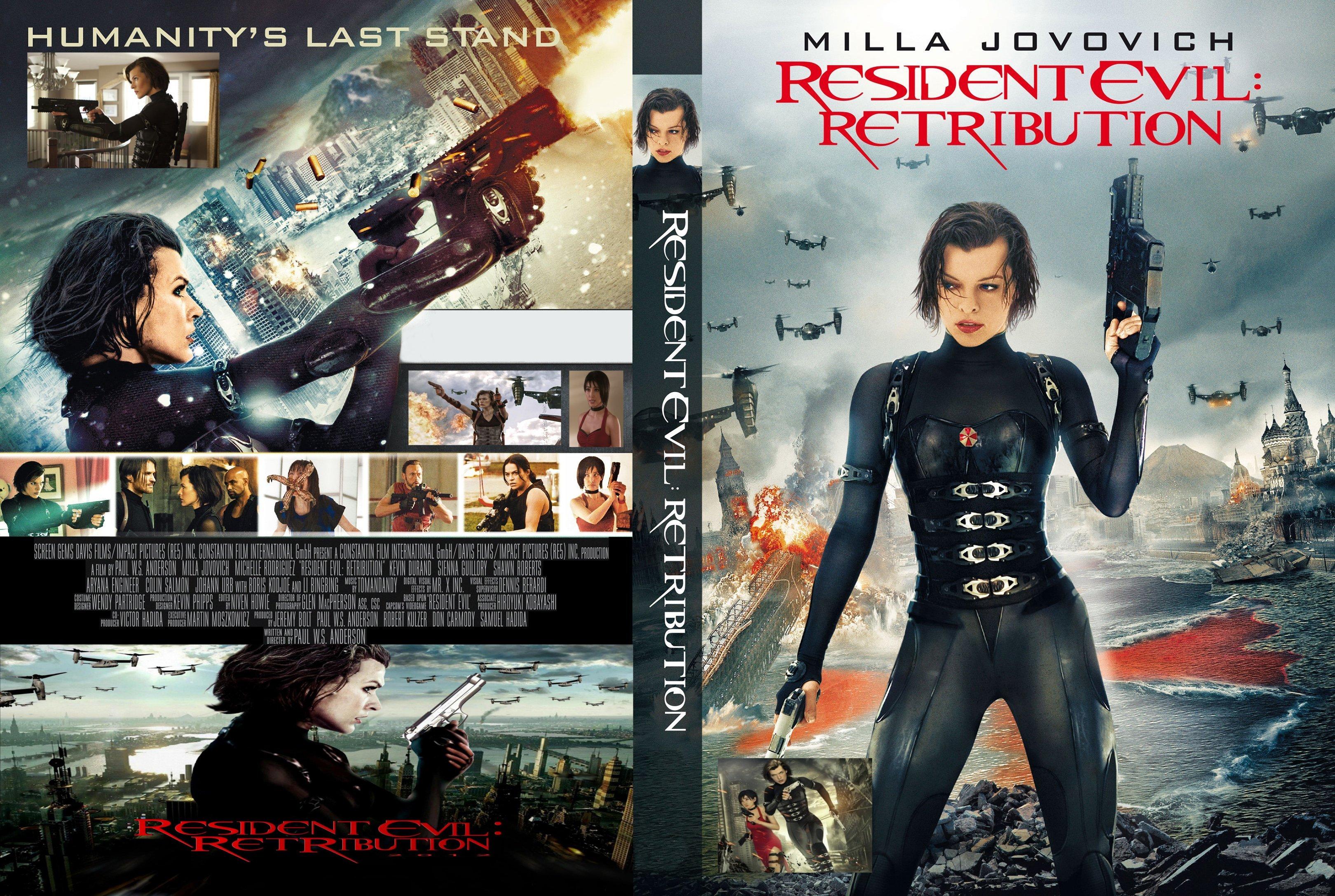 Covers Box Sk Resident Evil Retribution 2012 High Quality Dvd Blueray Movie