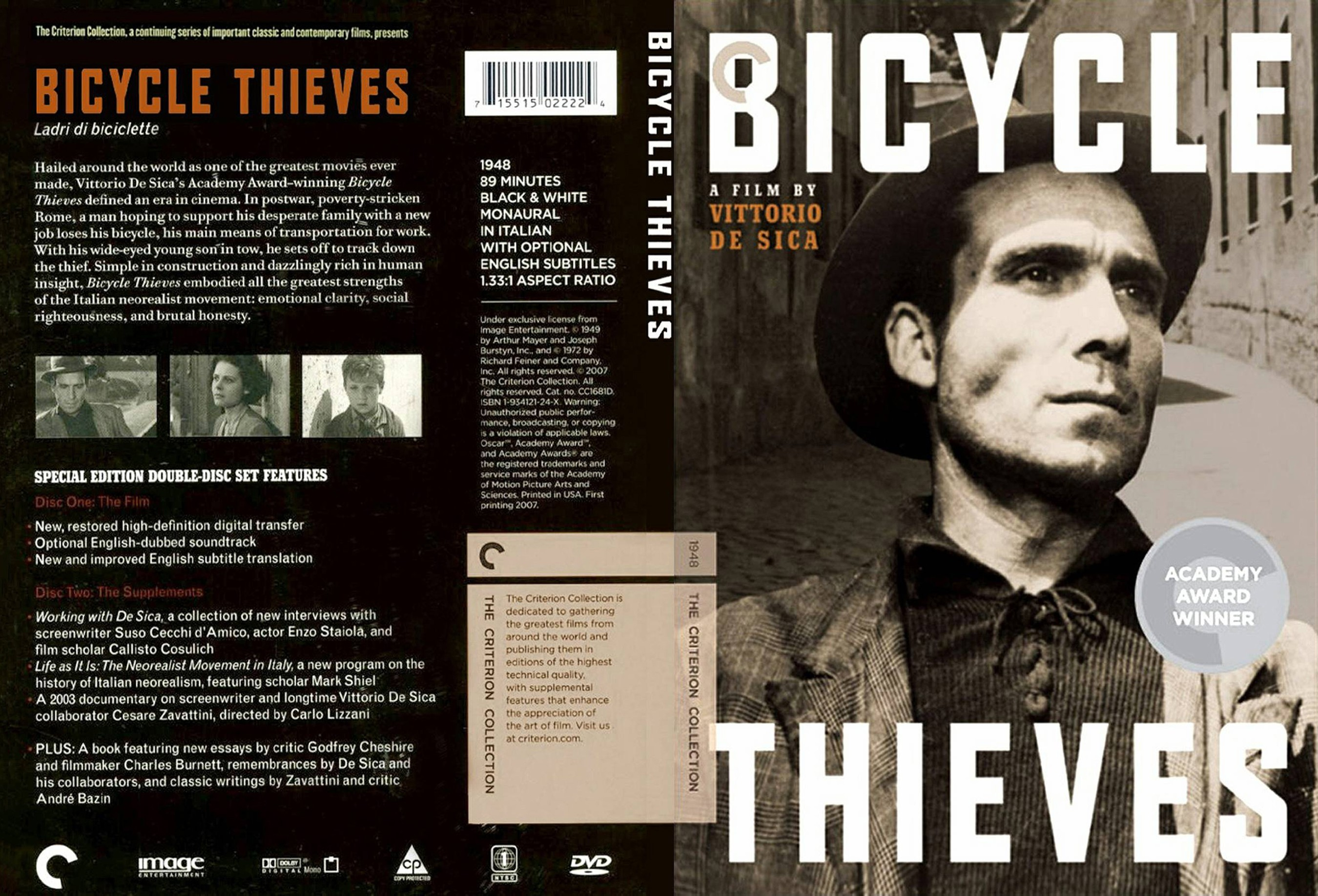 COVERS BOX SK ::: Bicycle Thieves 1948 - high quality DVD / Blueray