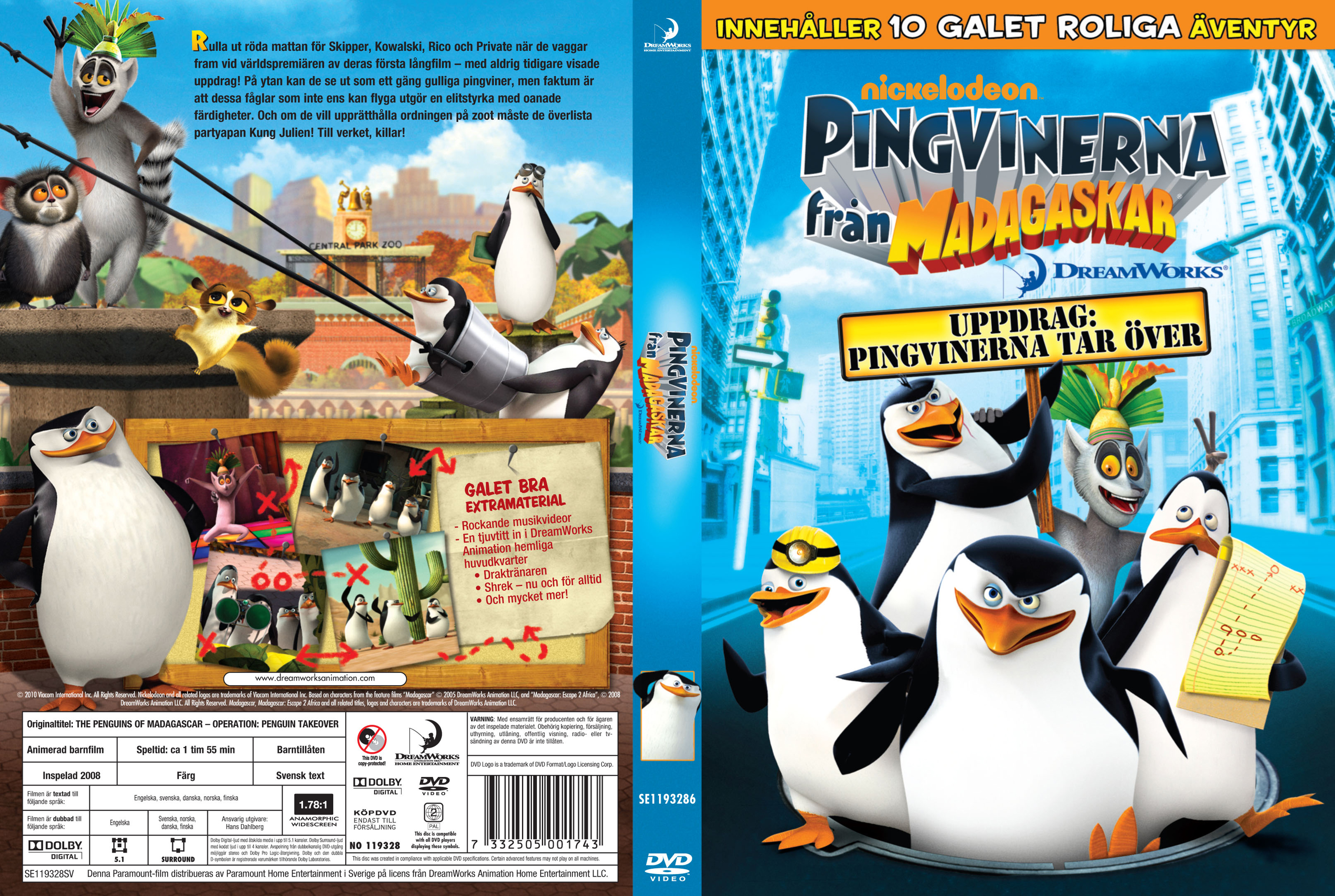 Opening to The Penguins Of Madagascar: Operation: DVD Premire 2010 DVD