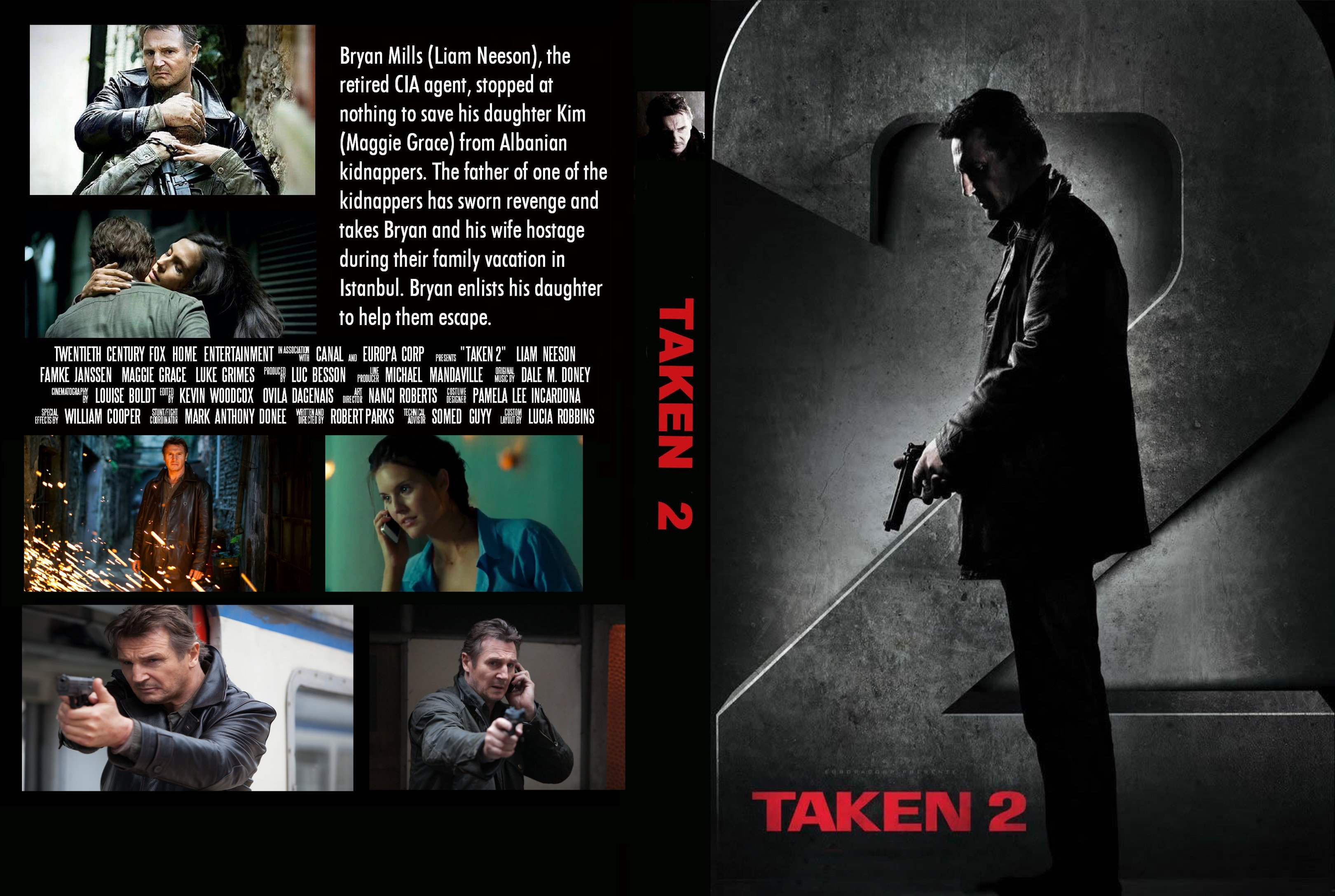 Covers Box Sk Taken 2 2012 High Quality Dvd Blueray Movie