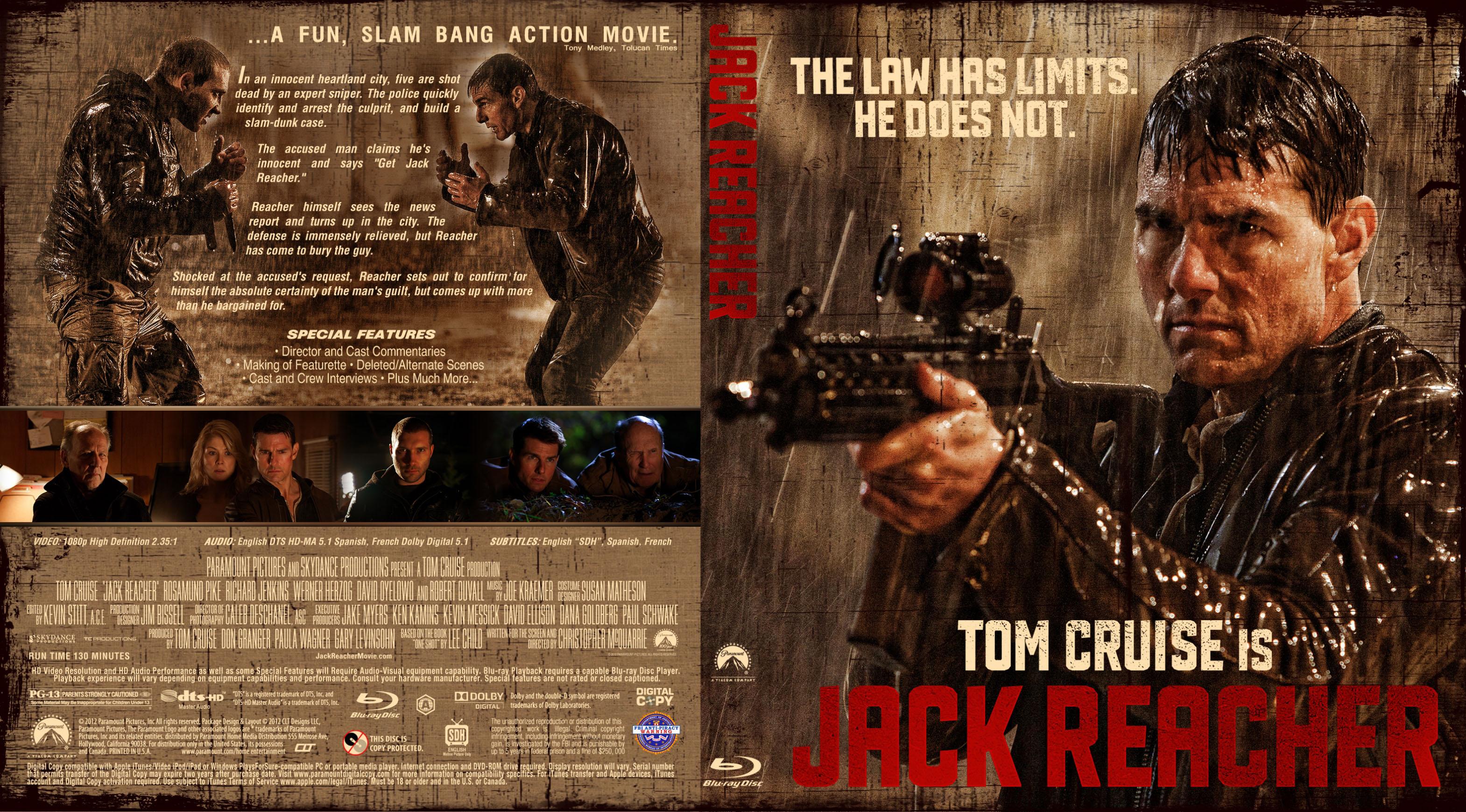 Covers Box Sk Jack Reacher 2012 High Quality Dvd Blueray Movie