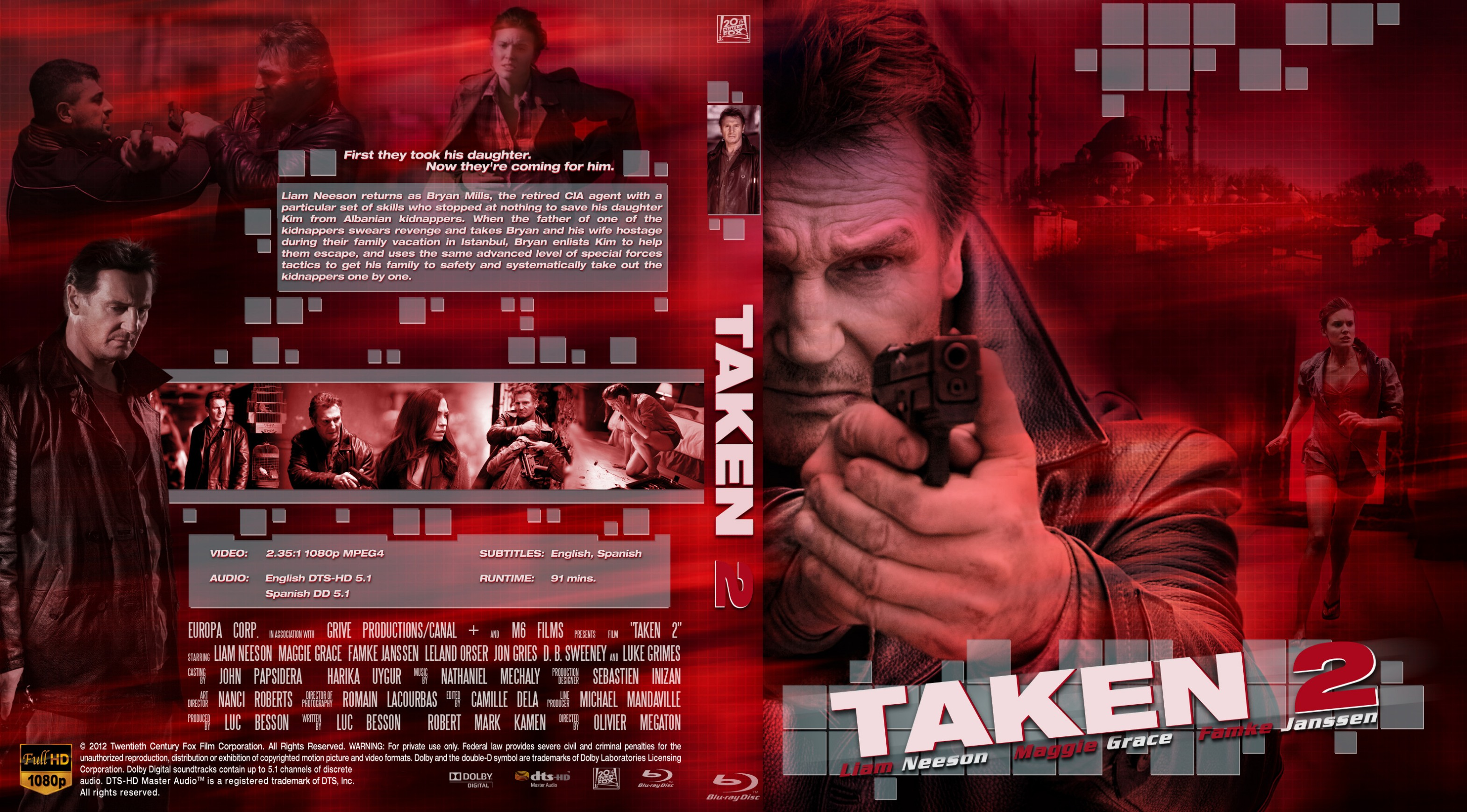COVERS BOX SK ::: taken 2 (2012) - high quality DVD