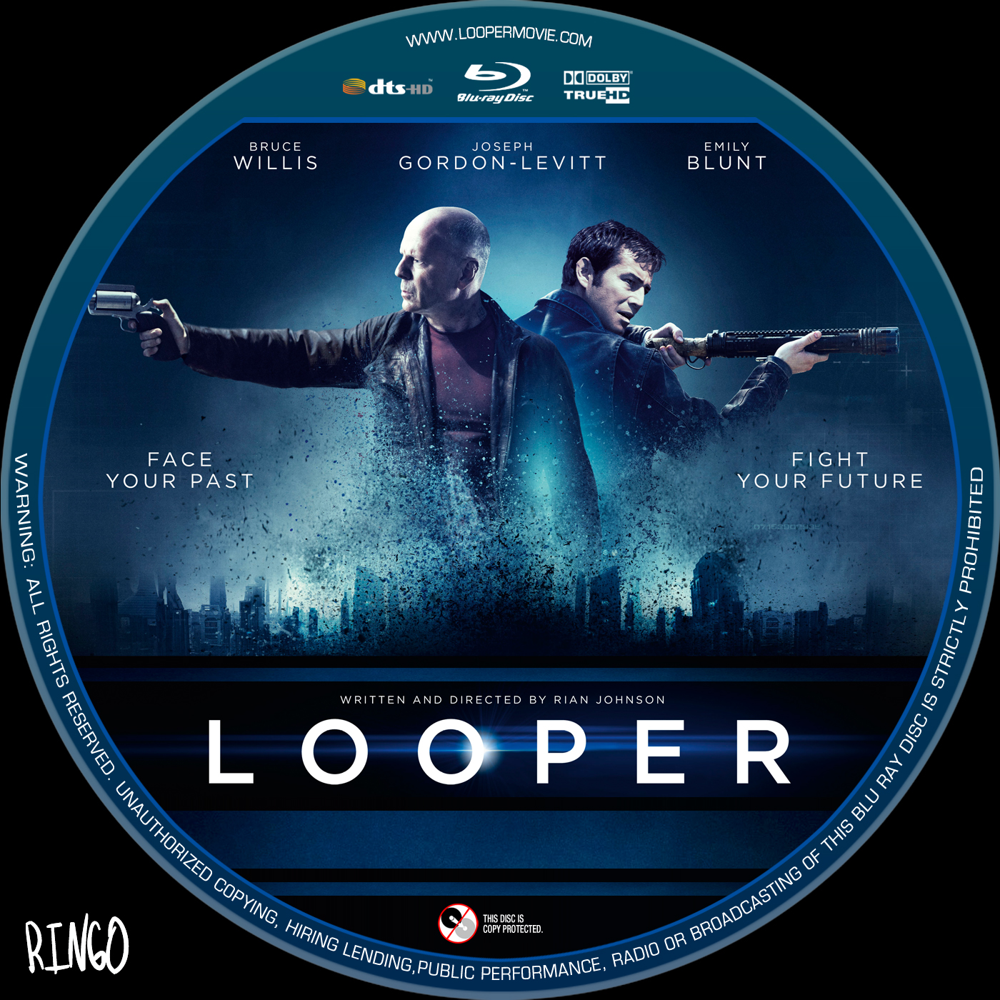 Looper Dvd Front Cover Covers Hut