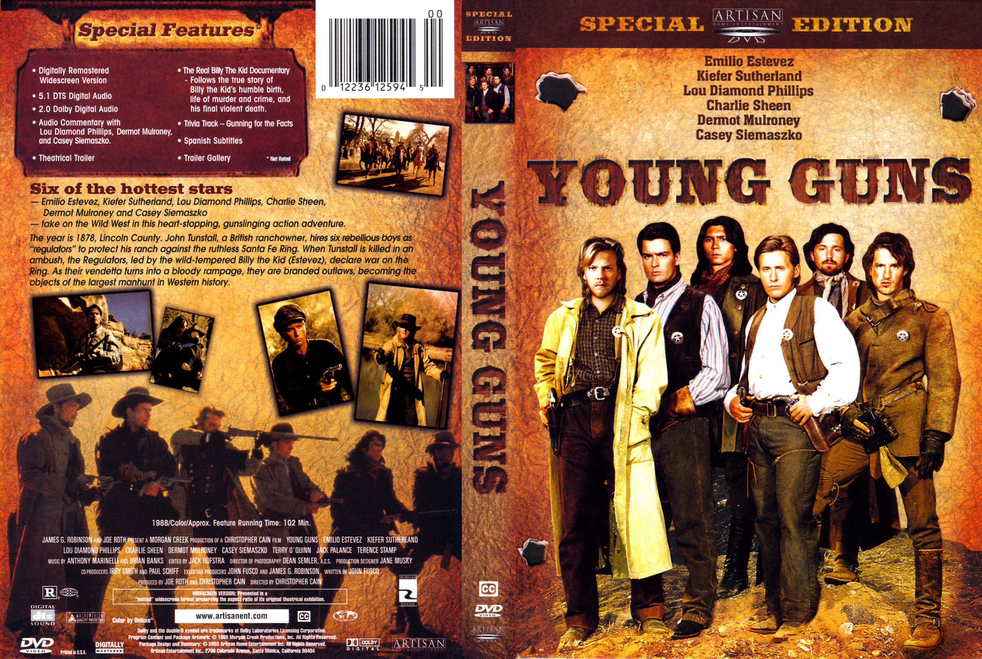 Image result for Young Guns DVD