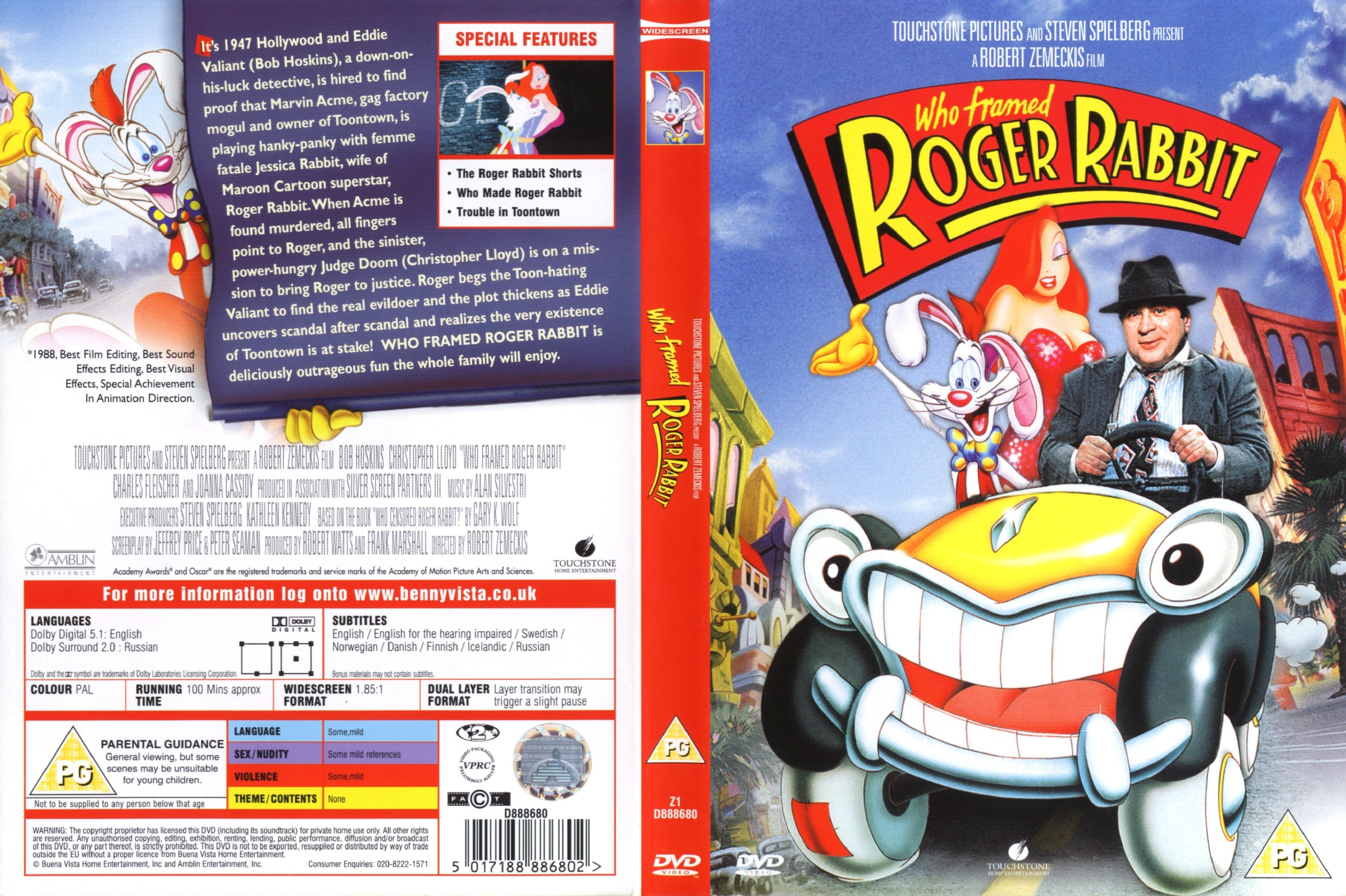 Movie - Who Framed Roger Rabbit (1988) - Animation, Comedy, Crime ...
