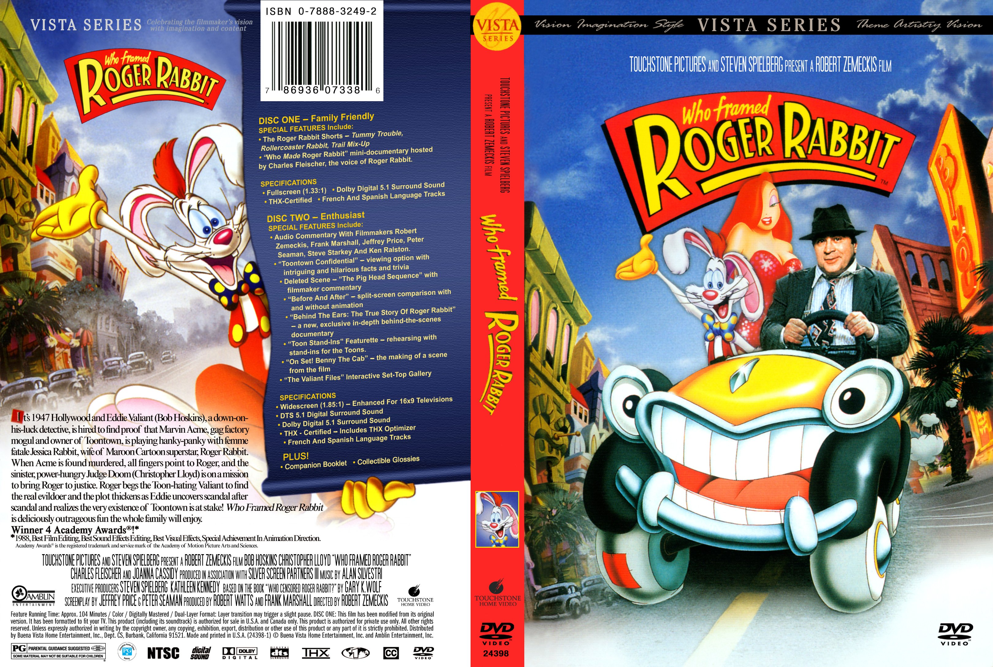 Covers Box Sk Who Framed Roger Rabbit 1988 High Quality Dvd Blueray Movie