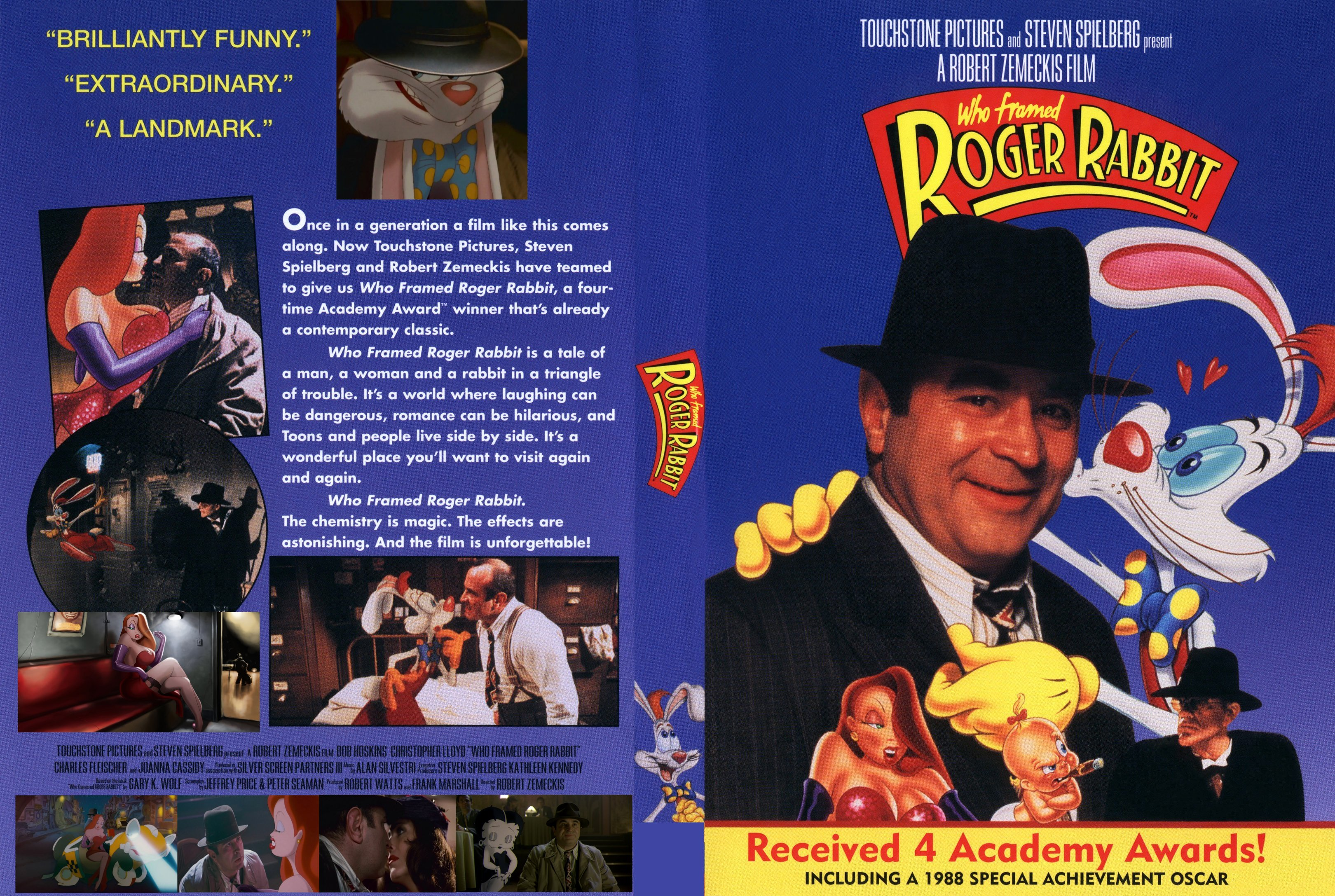 COVERS.BOX.SK ::: Who Framed Roger Rabbit 1988 - high quality DVD ...