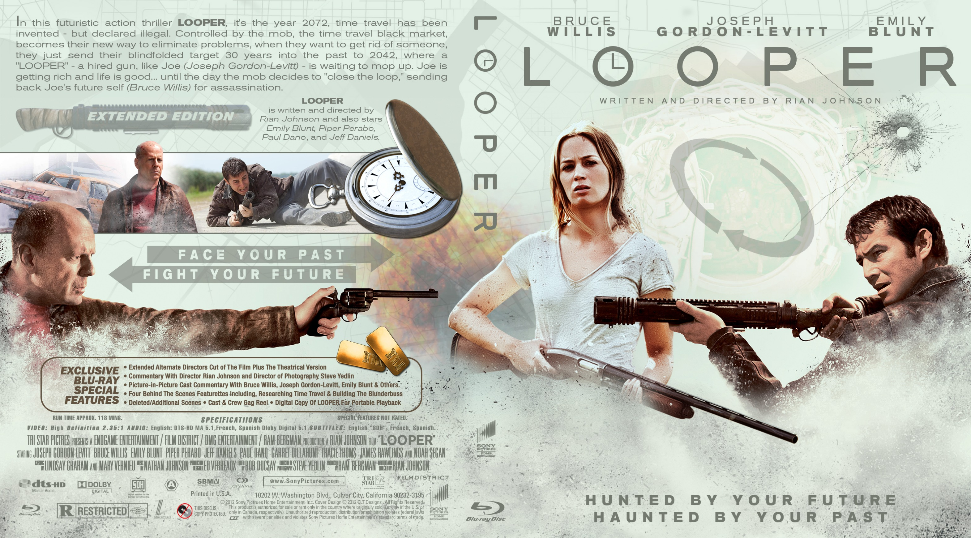 Covers Box Sk Looper 2012 High Quality Dvd Blueray Movie